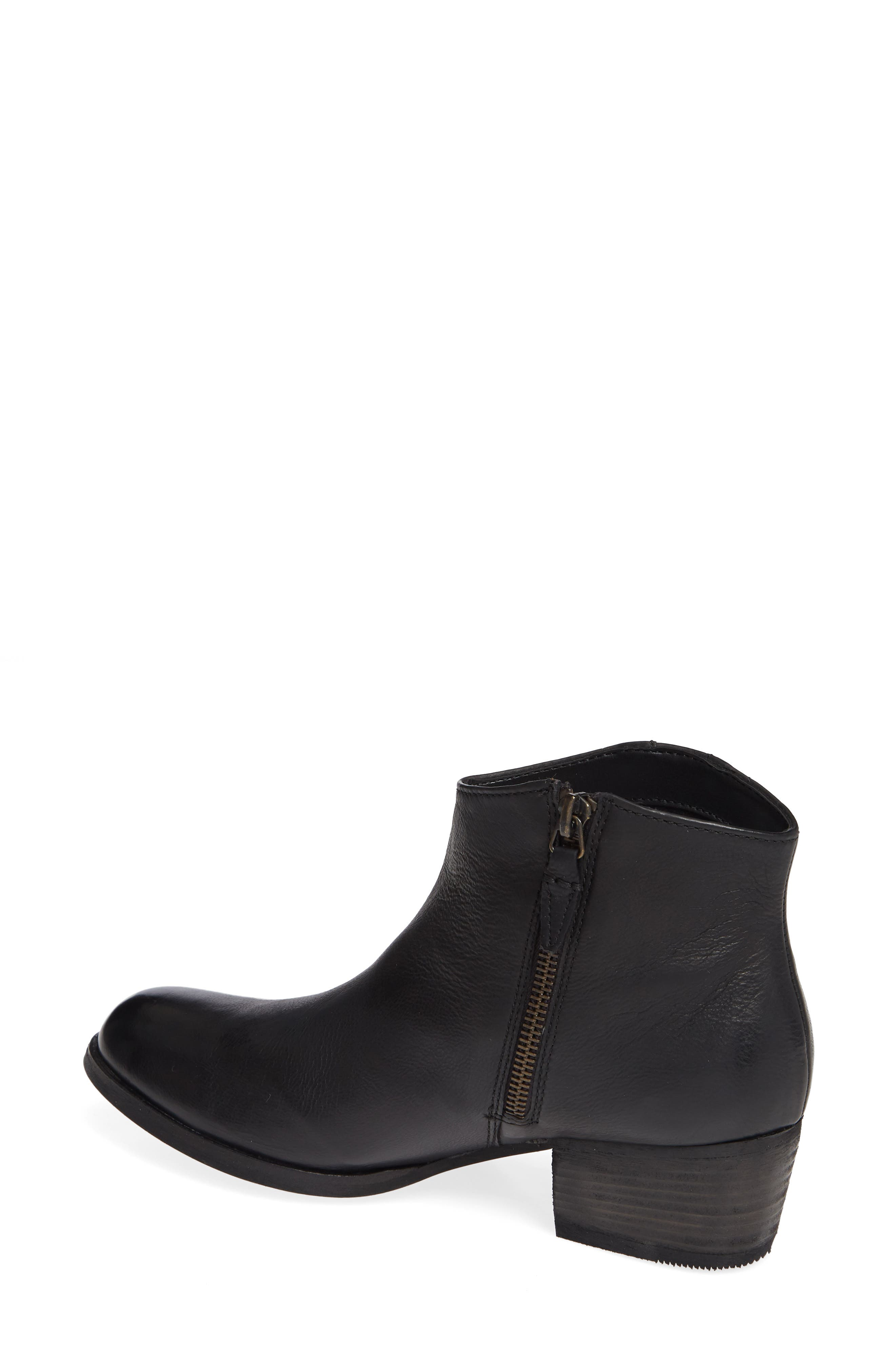 Maypearl Fawn Bootie,                             Alternate thumbnail 2, color,                             BLACK LEATHER