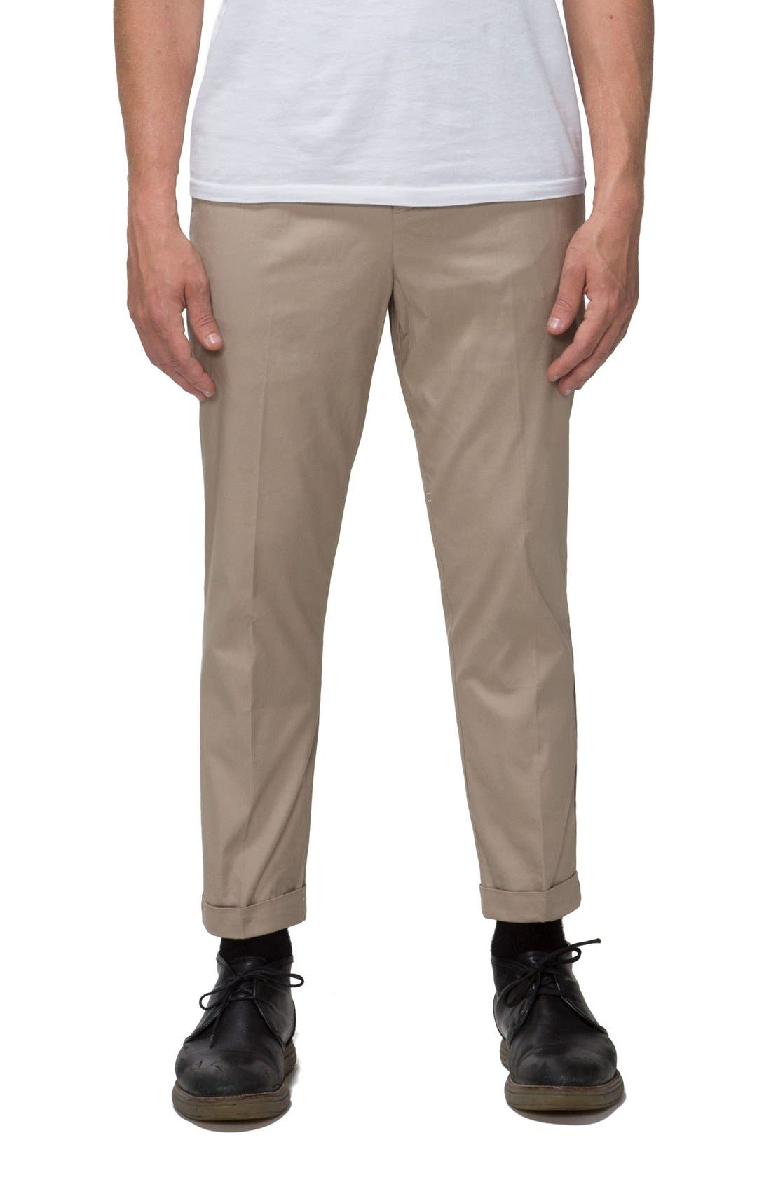 'Arroyo' Crop Stretch Chinos,                             Main thumbnail 3, color,