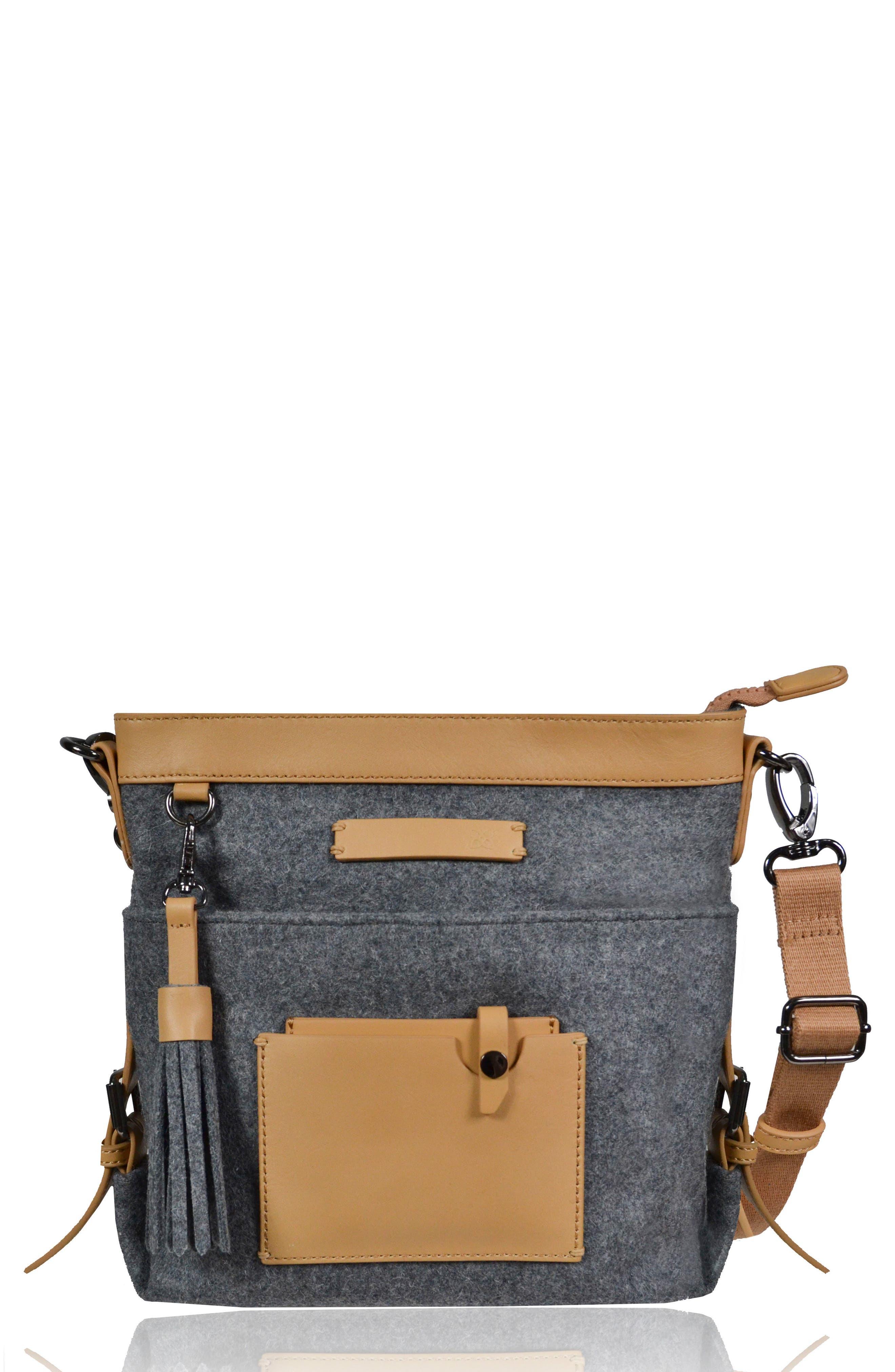 Luna Waxed Cotton Canvas Crossbody Bag,                             Main thumbnail 1, color,