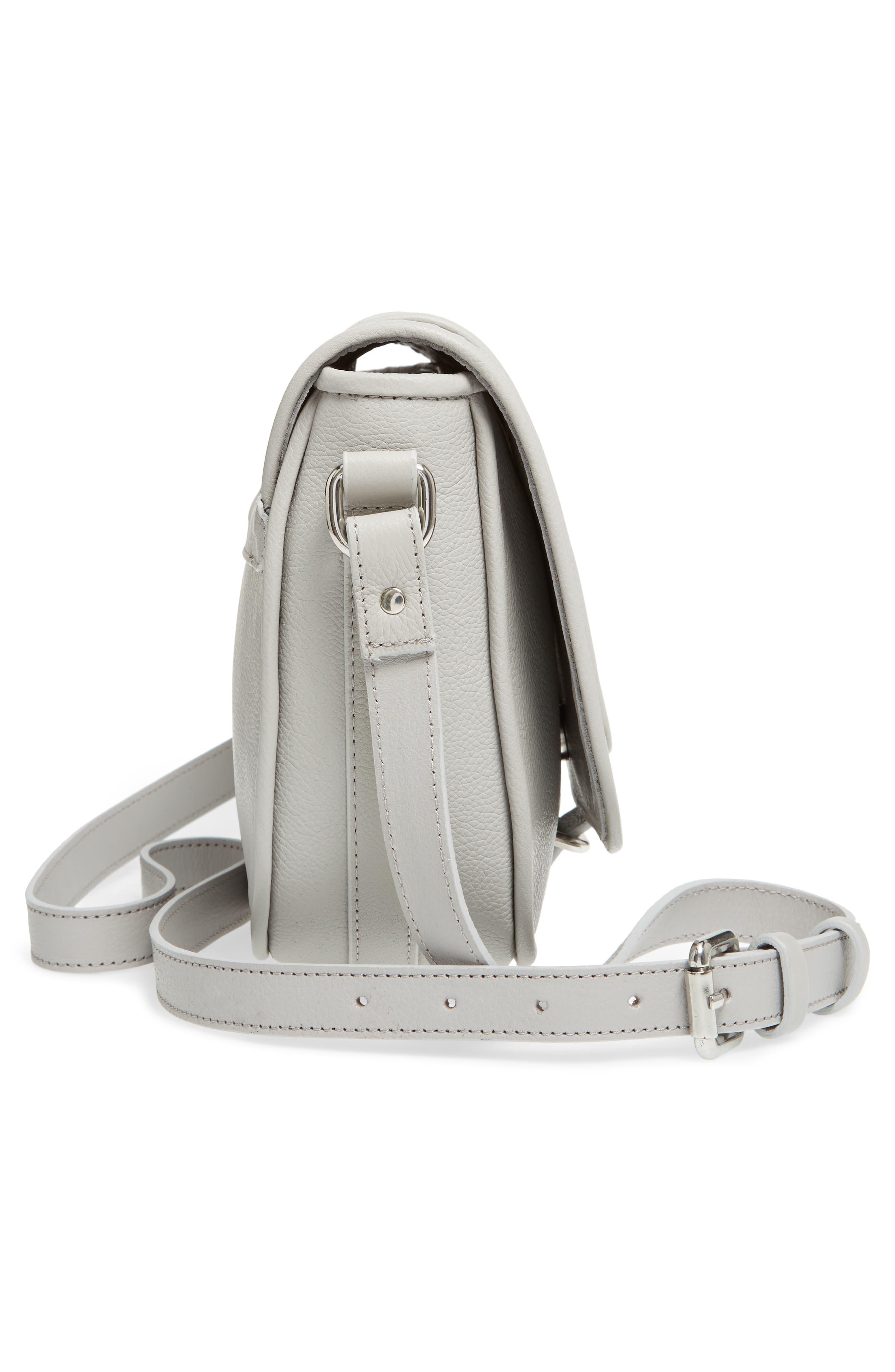 Premium Leather Studded Shoulder Bag,                             Alternate thumbnail 14, color,