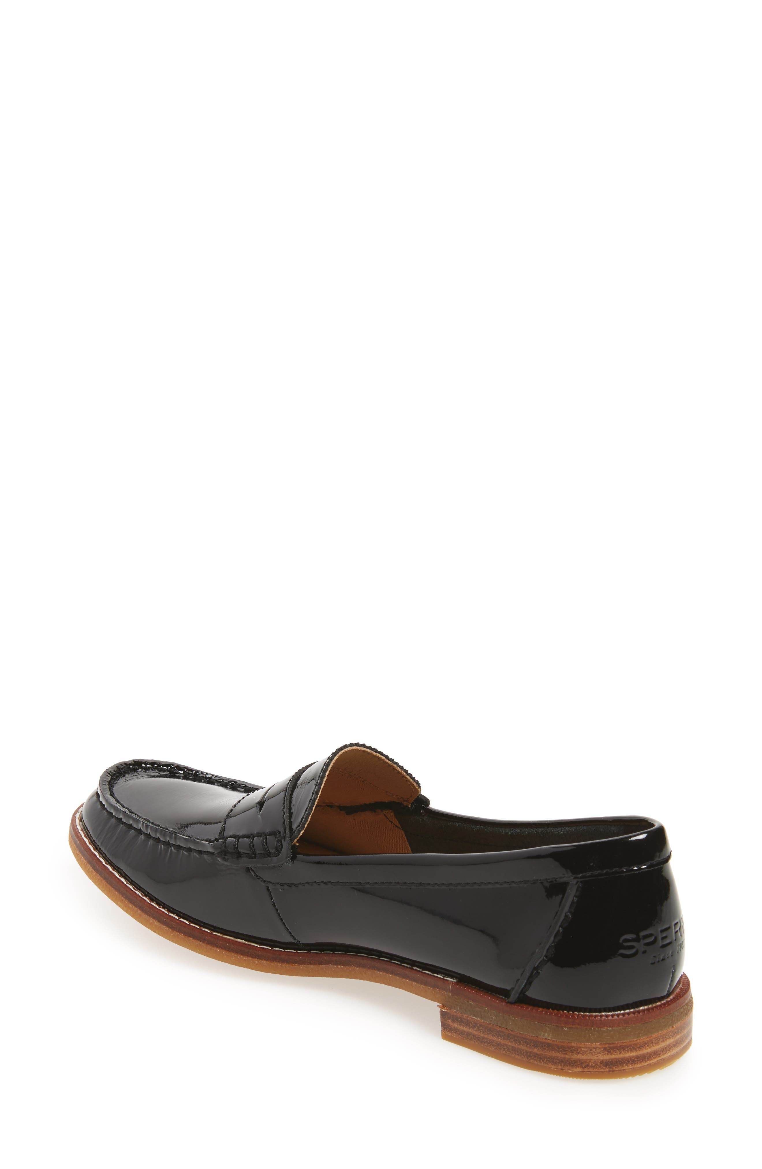 Seaport Penny Loafer,                             Alternate thumbnail 2, color,                             BLACK PATENT LEATHER