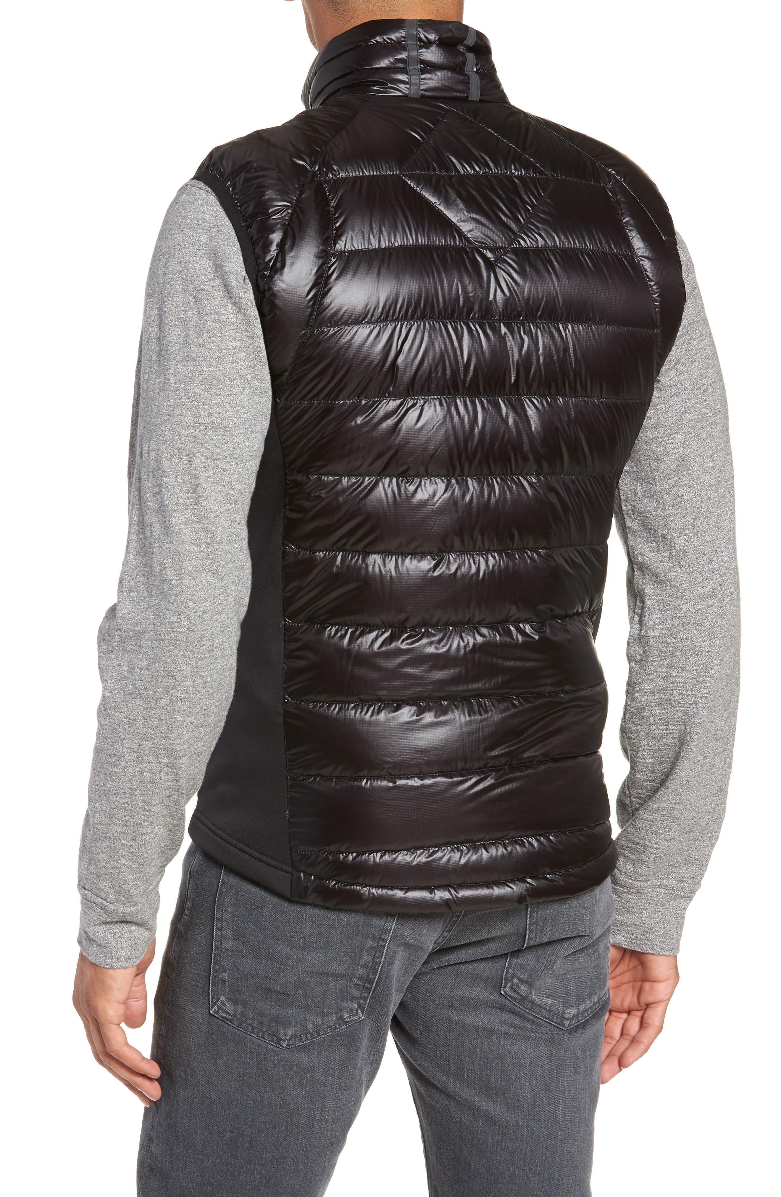 'Hybridge<sup>™</sup> Lite' Slim Fit Packable Quilted 800-Fill Down Vest,                             Alternate thumbnail 2, color,                             BLACK/ GRAPHITE
