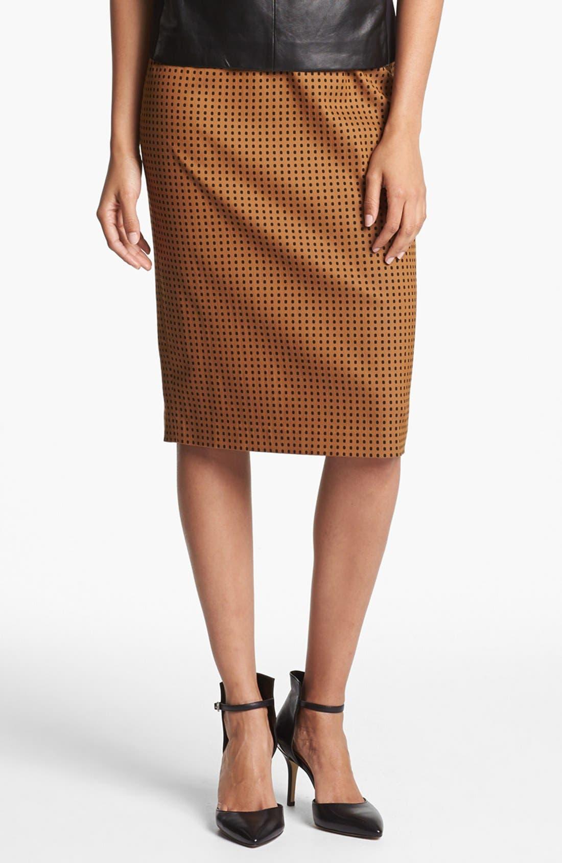 Print Pencil Skirt,                             Main thumbnail 6, color,