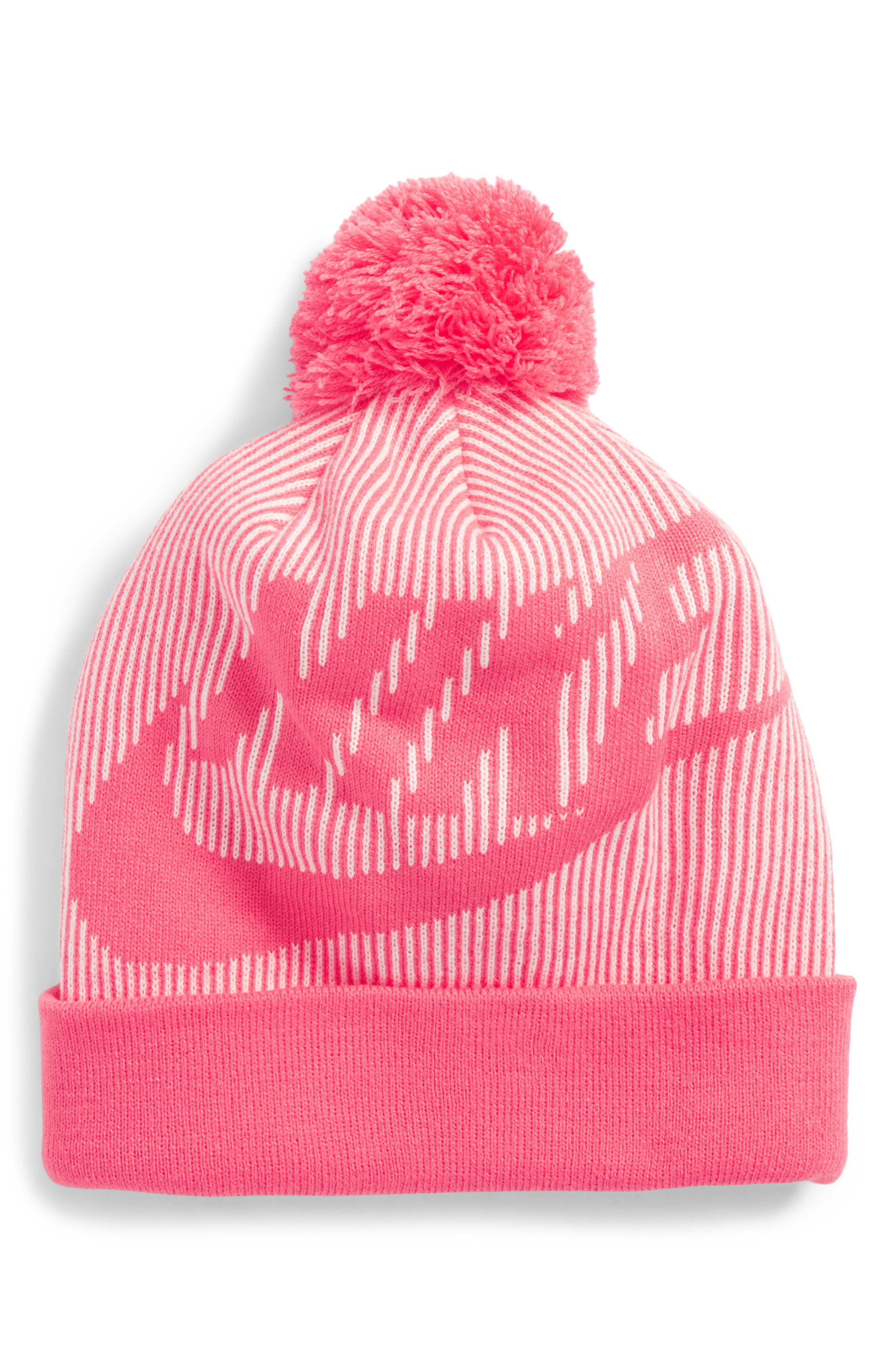 Sportswear Beanie with Removable Pom,                         Main,                         color, 662