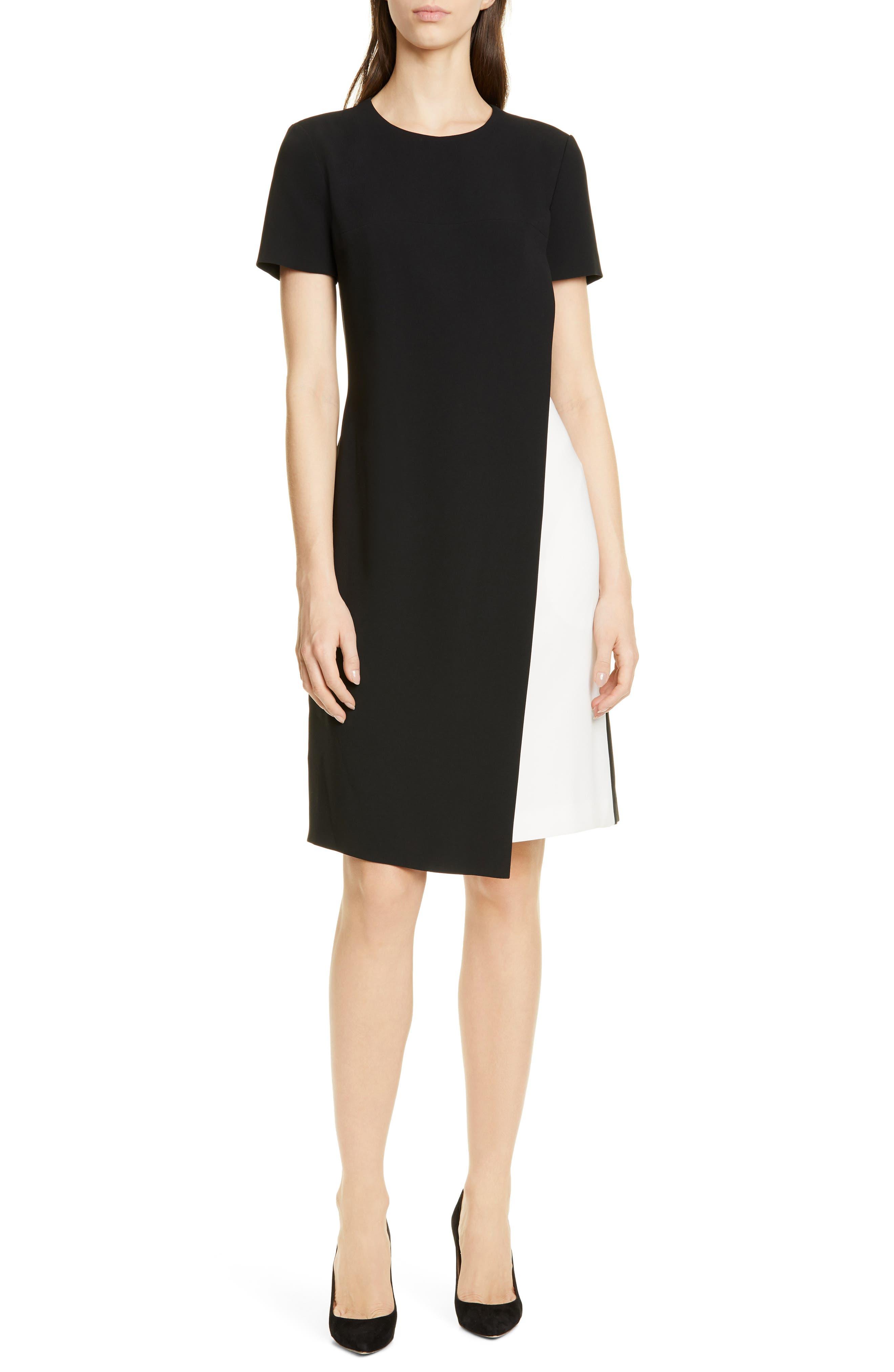 Boss Dularis Colorblock Shift Dress, Black