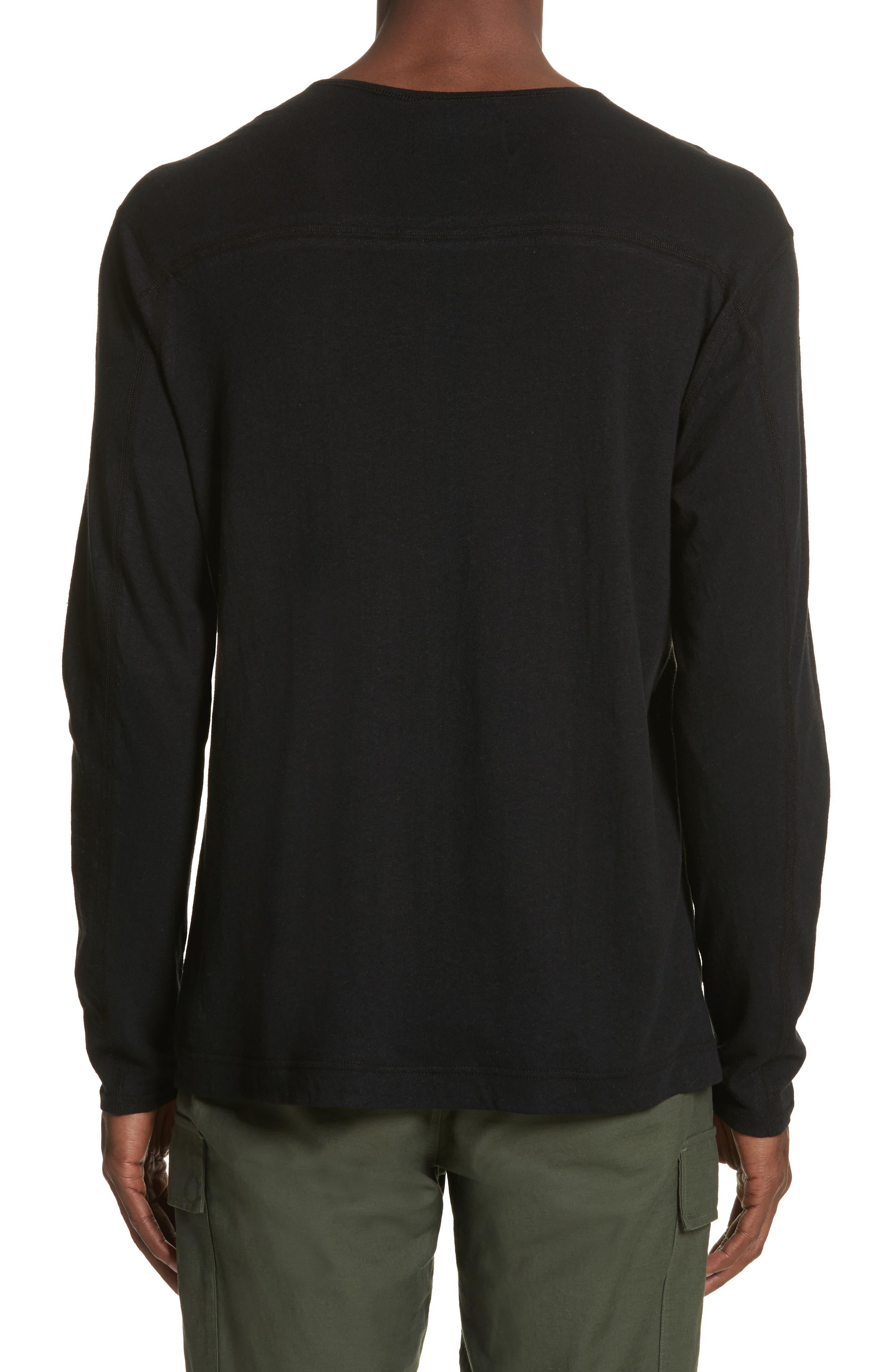 Linen Blend Jersey Long Sleeve T-Shirt,                             Alternate thumbnail 2, color,                             001