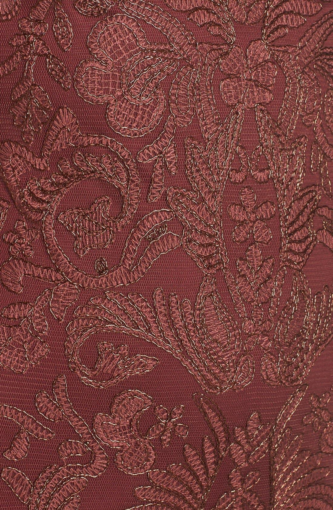 Illusion Yoke Lace Sheath Dress,                             Alternate thumbnail 50, color,