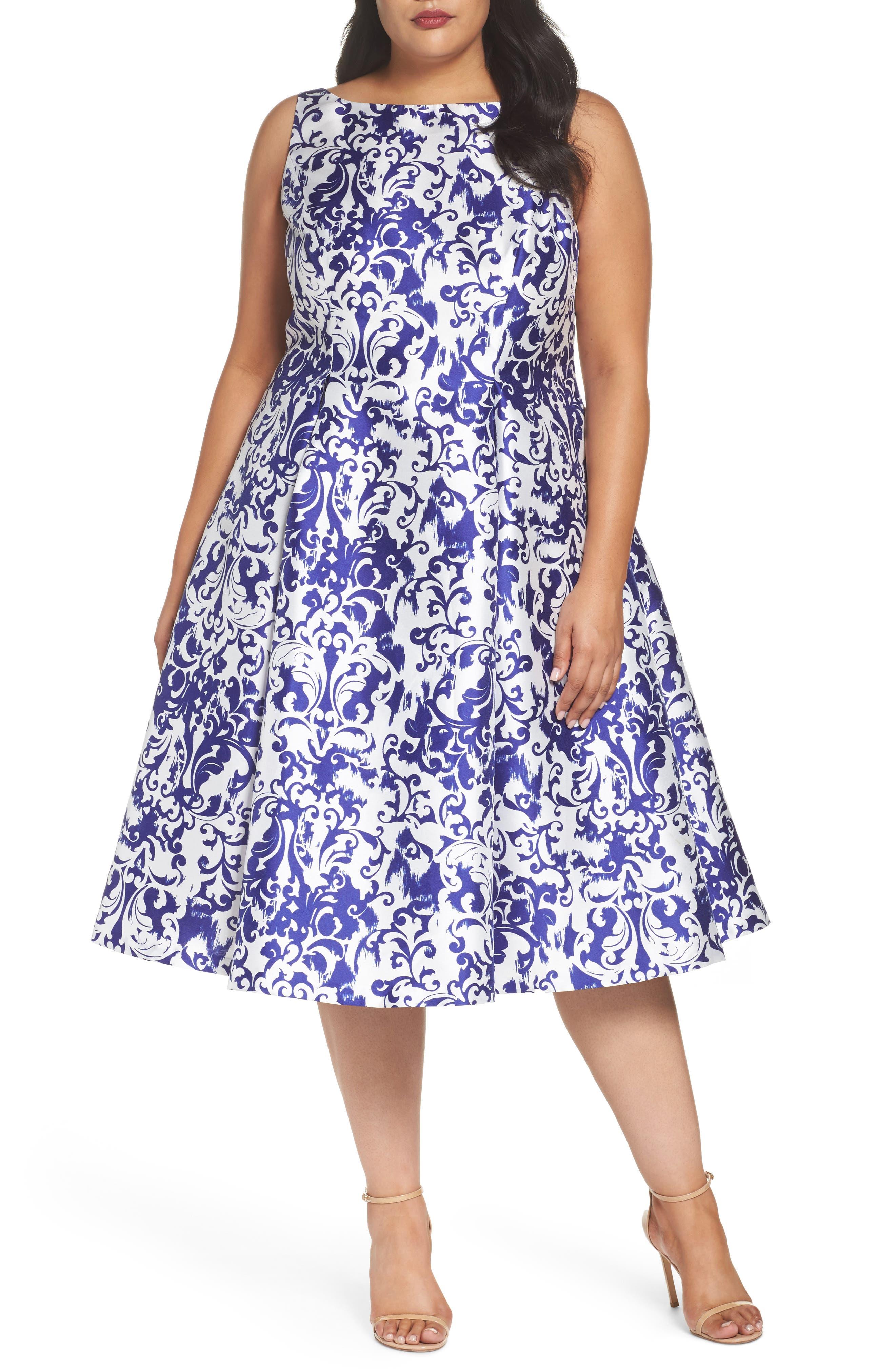 Fit & Flare Dress,                             Main thumbnail 1, color,                             480