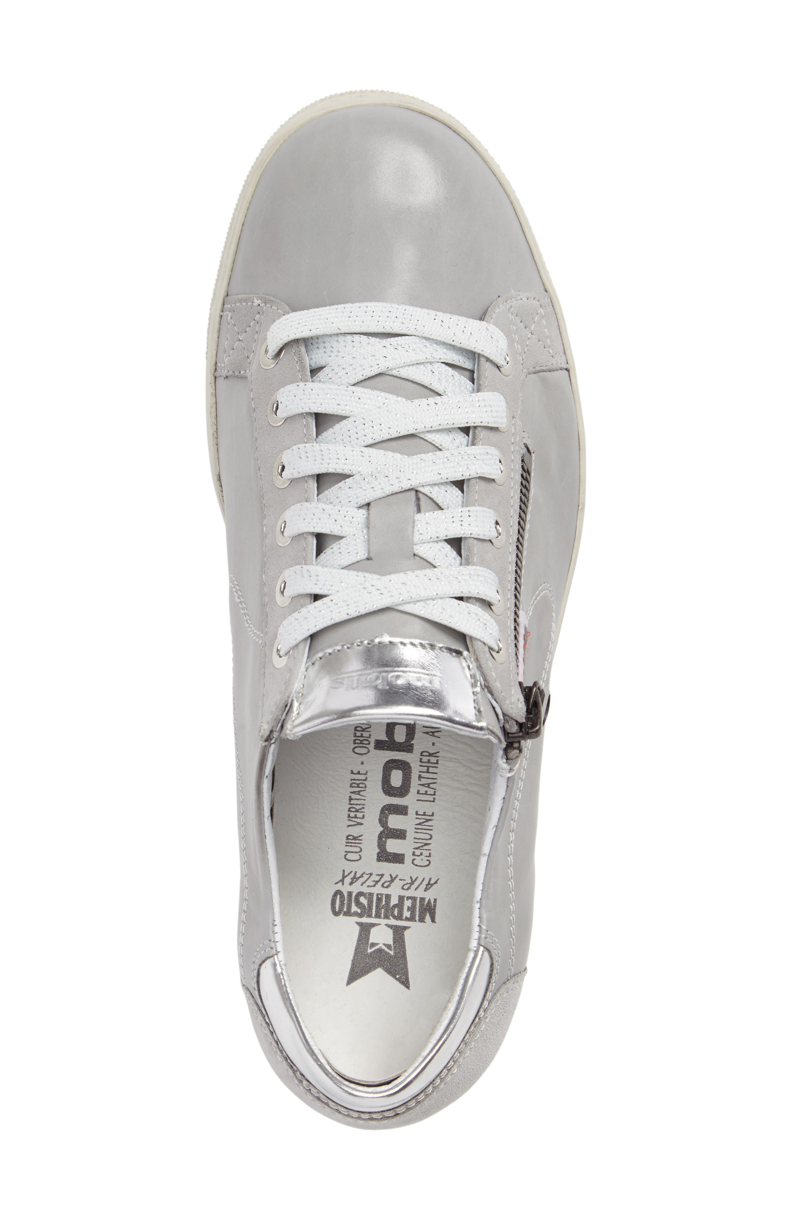 Hawai Sneaker,                             Alternate thumbnail 3, color,                             LIGHT GREY CALFSKIN LEATHER
