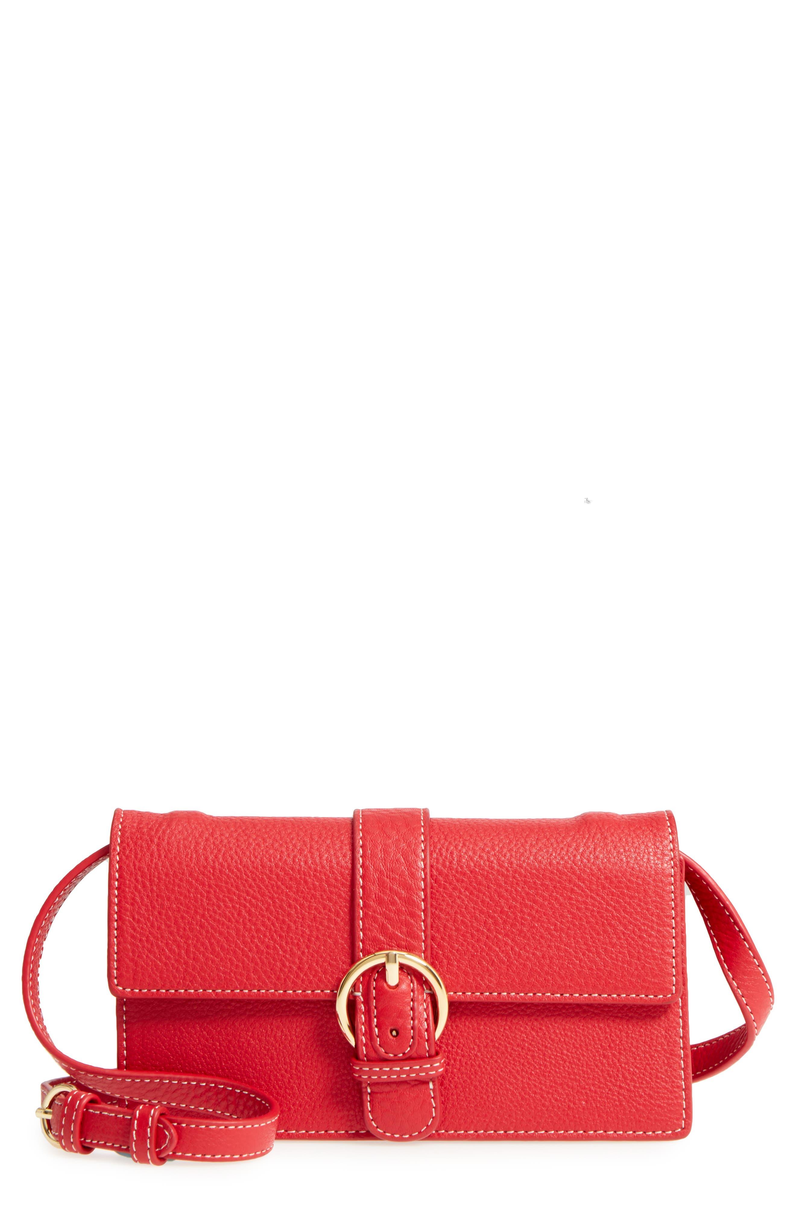 Calfskin Leather Crossbody Wallet,                             Main thumbnail 4, color,