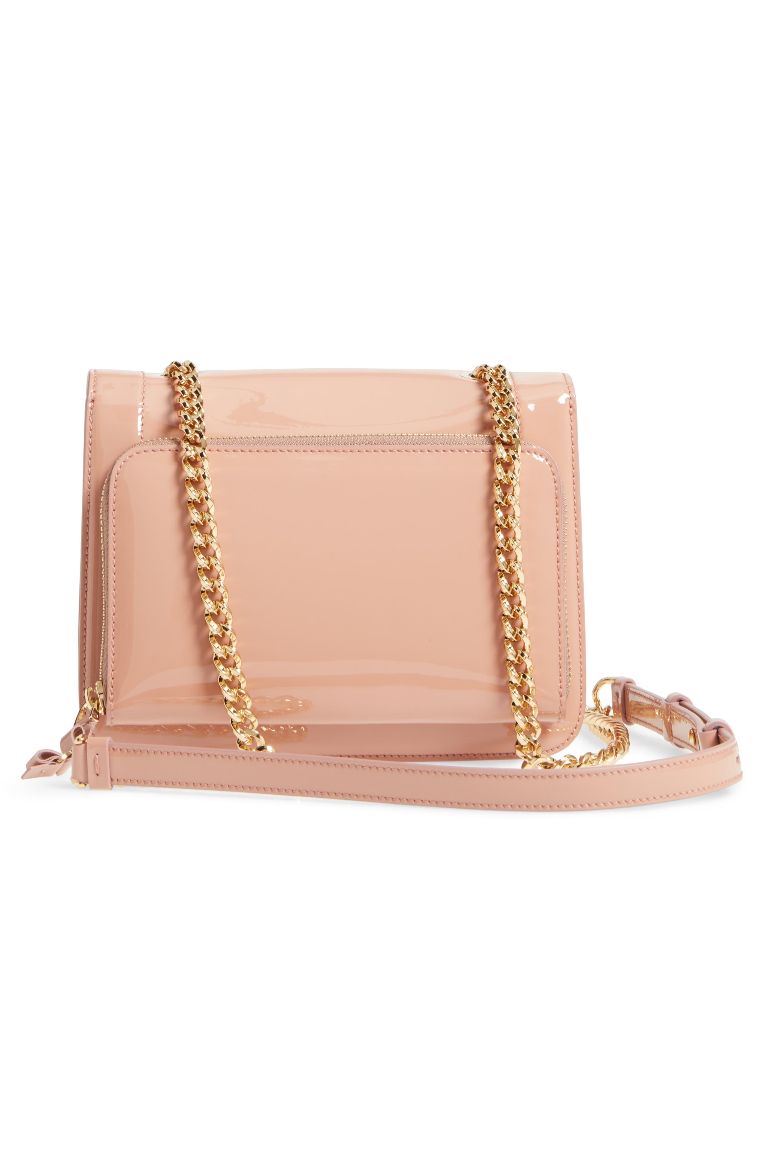 Vara Patent Leather Shoulder Bag,                             Alternate thumbnail 3, color,                             NEW BLUSH/ BONBON