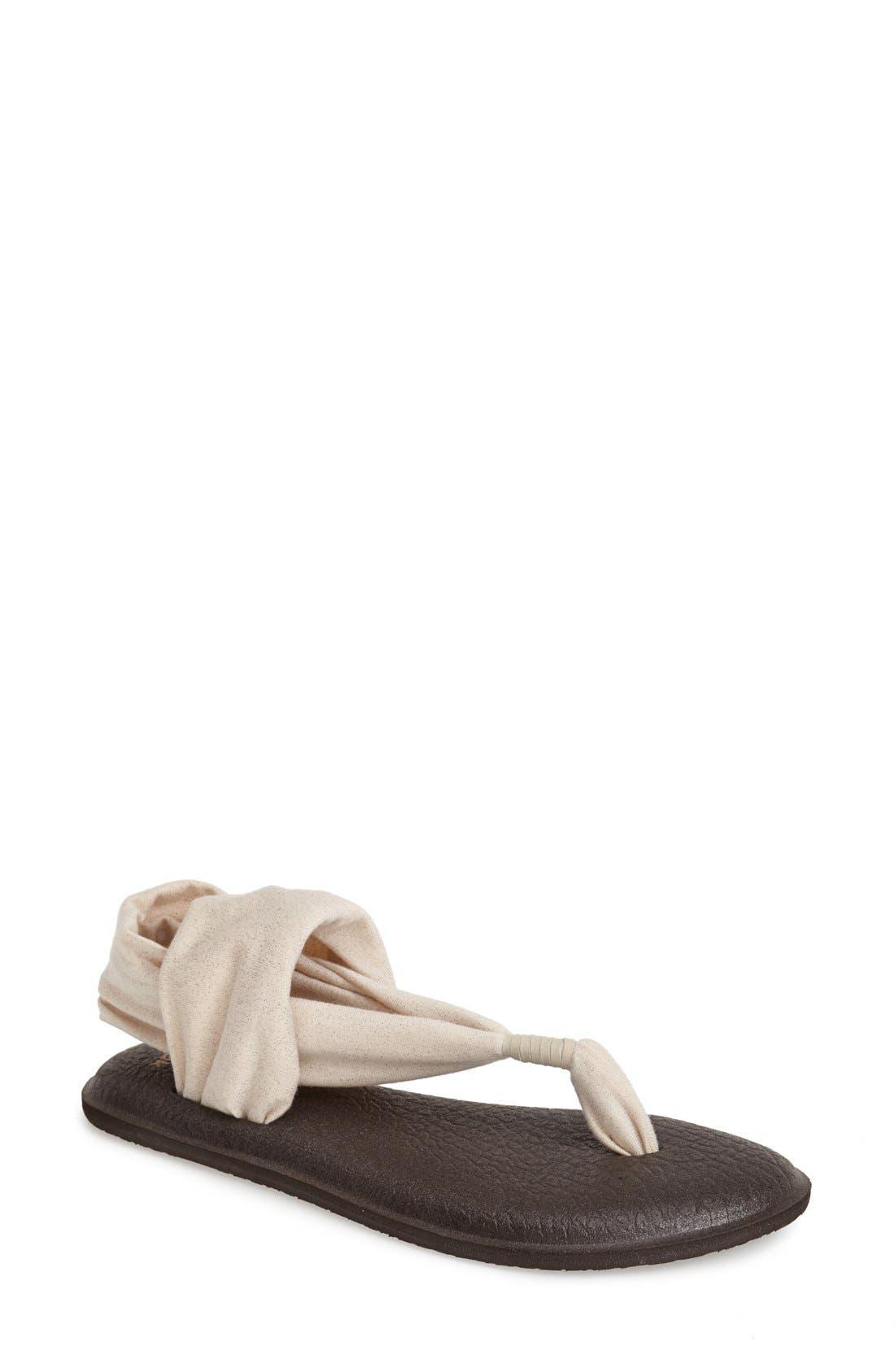 'Yoga Metallic Sling' Sandal,                         Main,                         color, 650