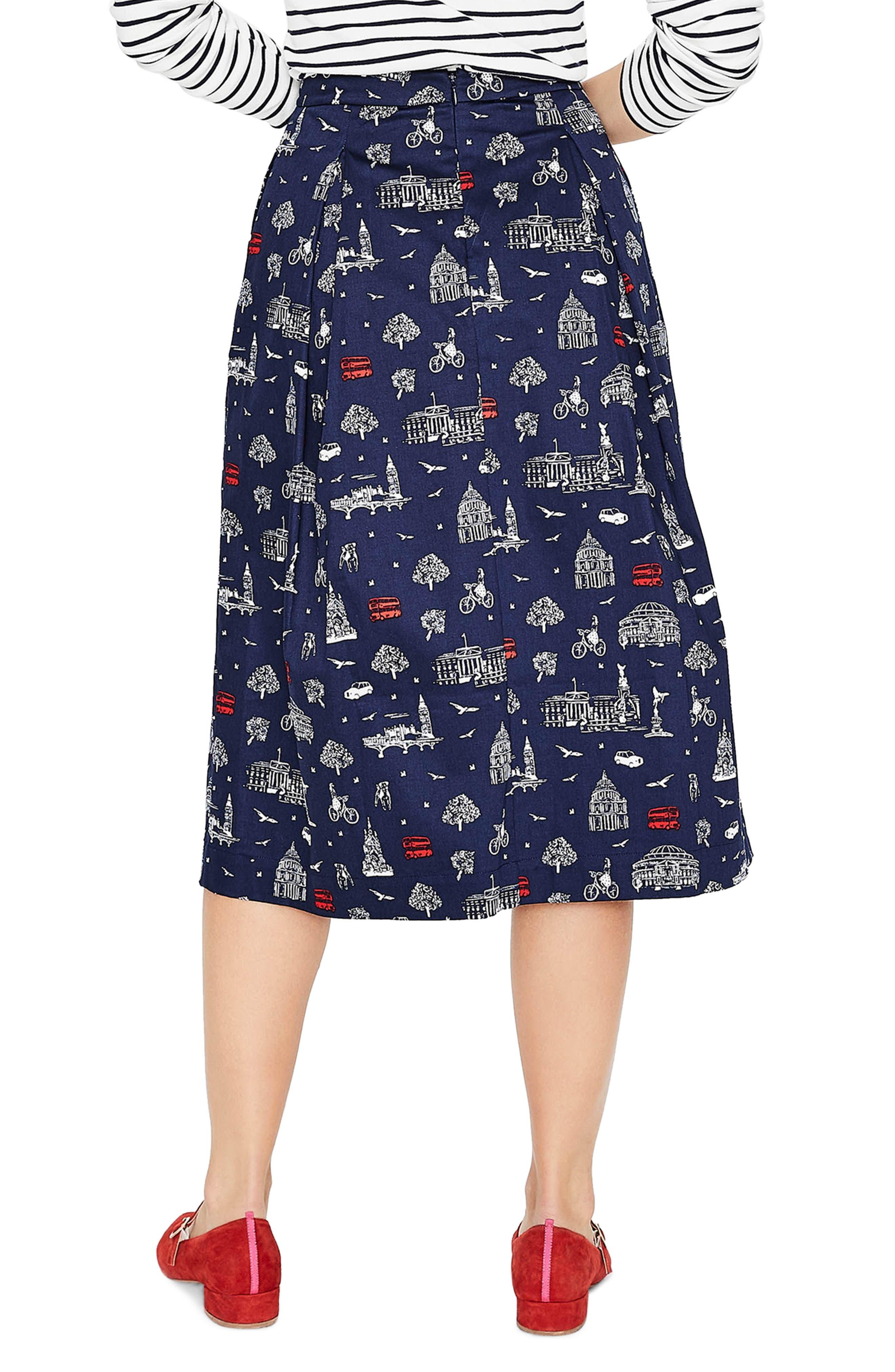 Lola Floral Flared Skirt,                             Alternate thumbnail 8, color,