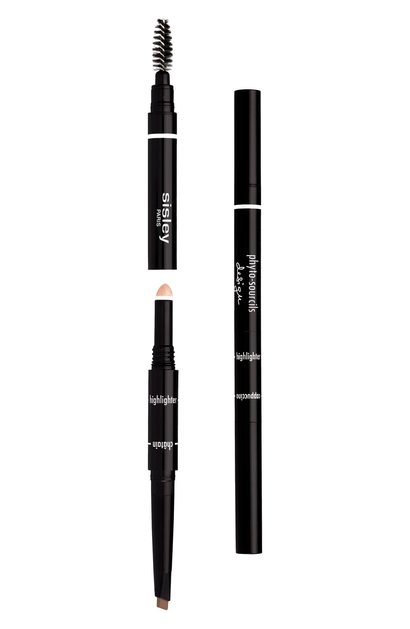 Phyto-Sourcils Design 3-in-1 Eyebrow Pencil,                             Main thumbnail 1, color,                             CHATAIN