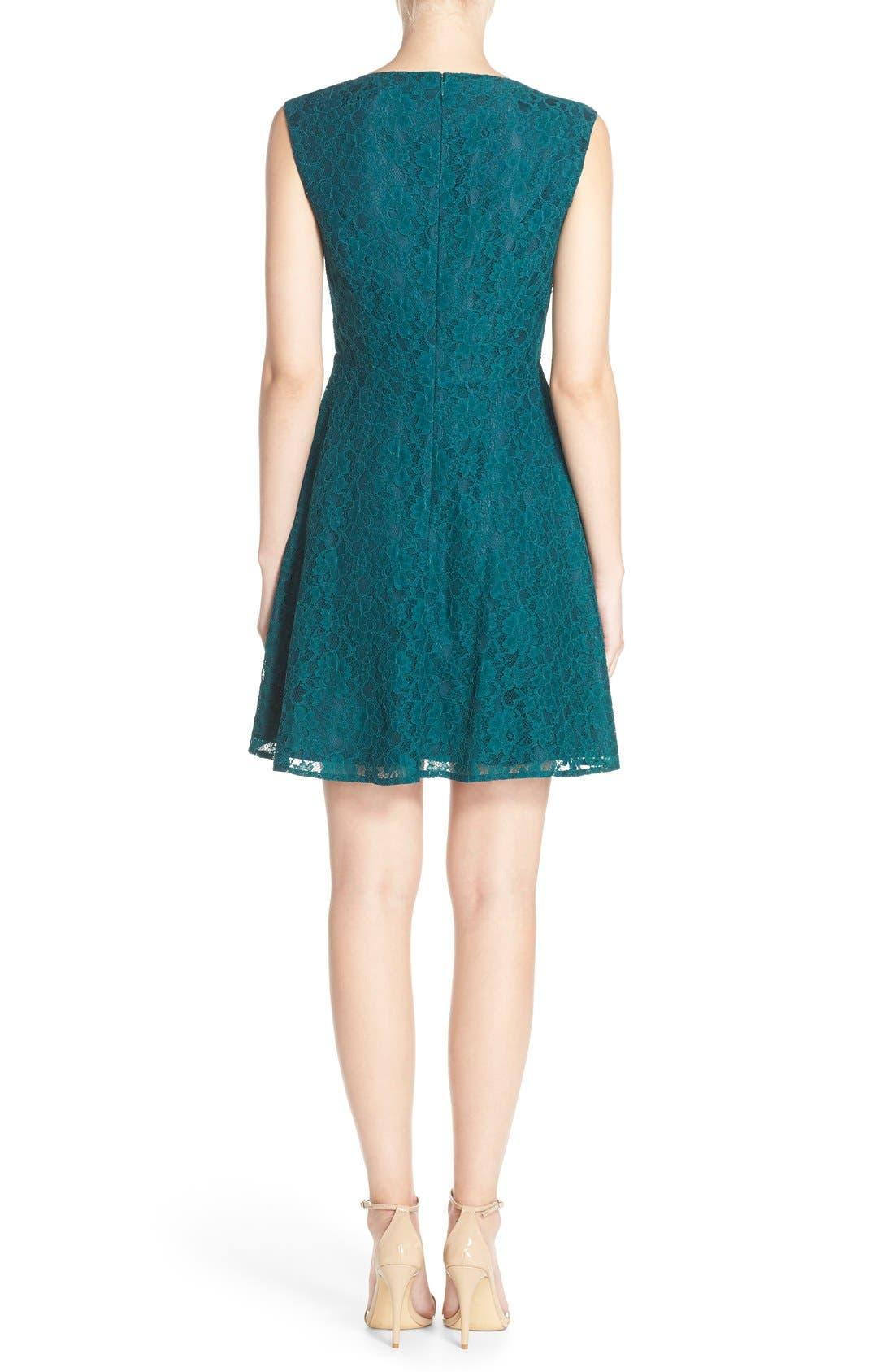 Fit & Flare Dress,                             Alternate thumbnail 16, color,