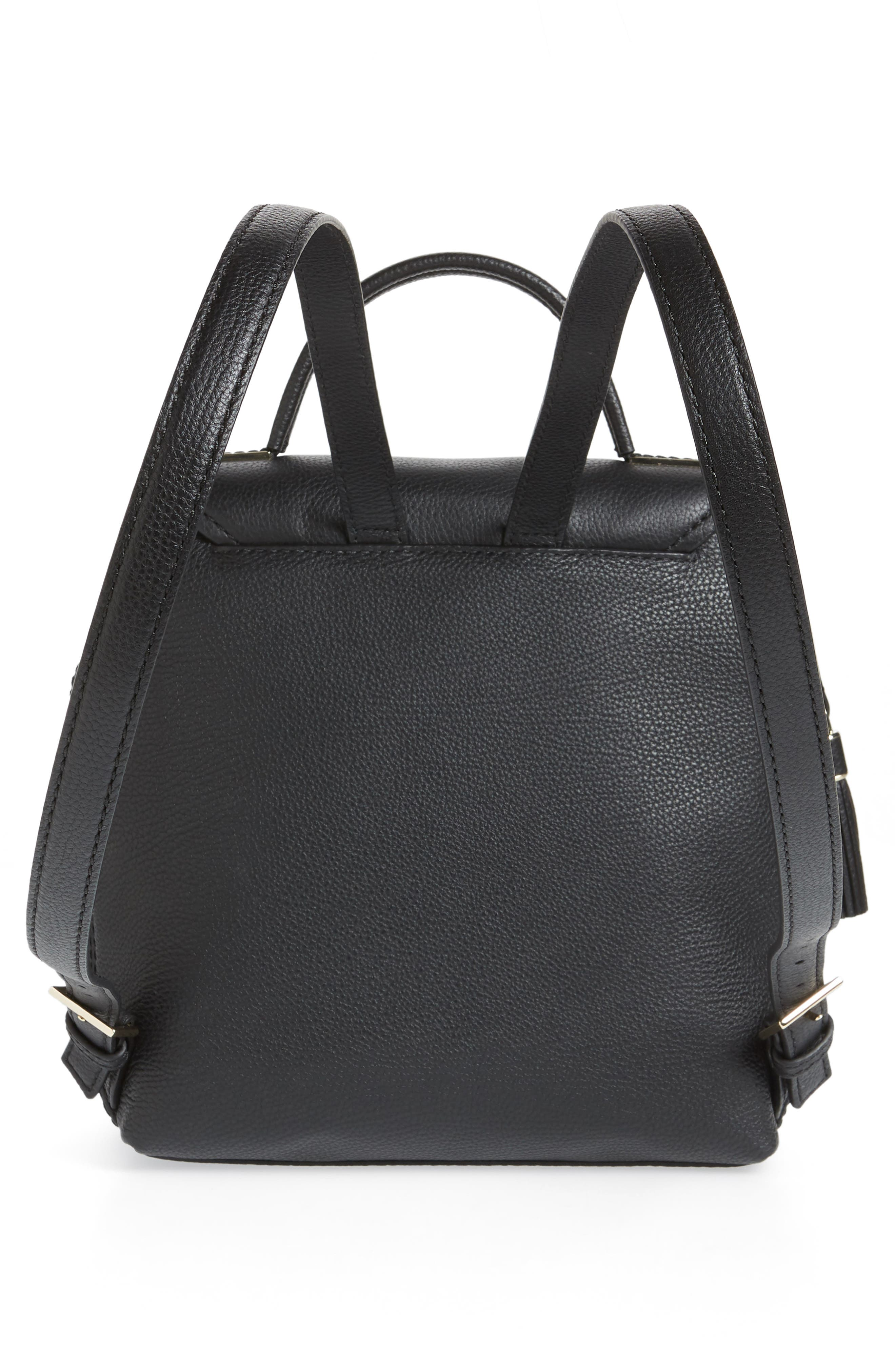 KATE SPADE NEW YORK,                             kingston drive - simona leather backpack,                             Alternate thumbnail 3, color,                             001