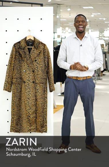 Toni Faux Fur Leopard Long Coat, sales video thumbnail