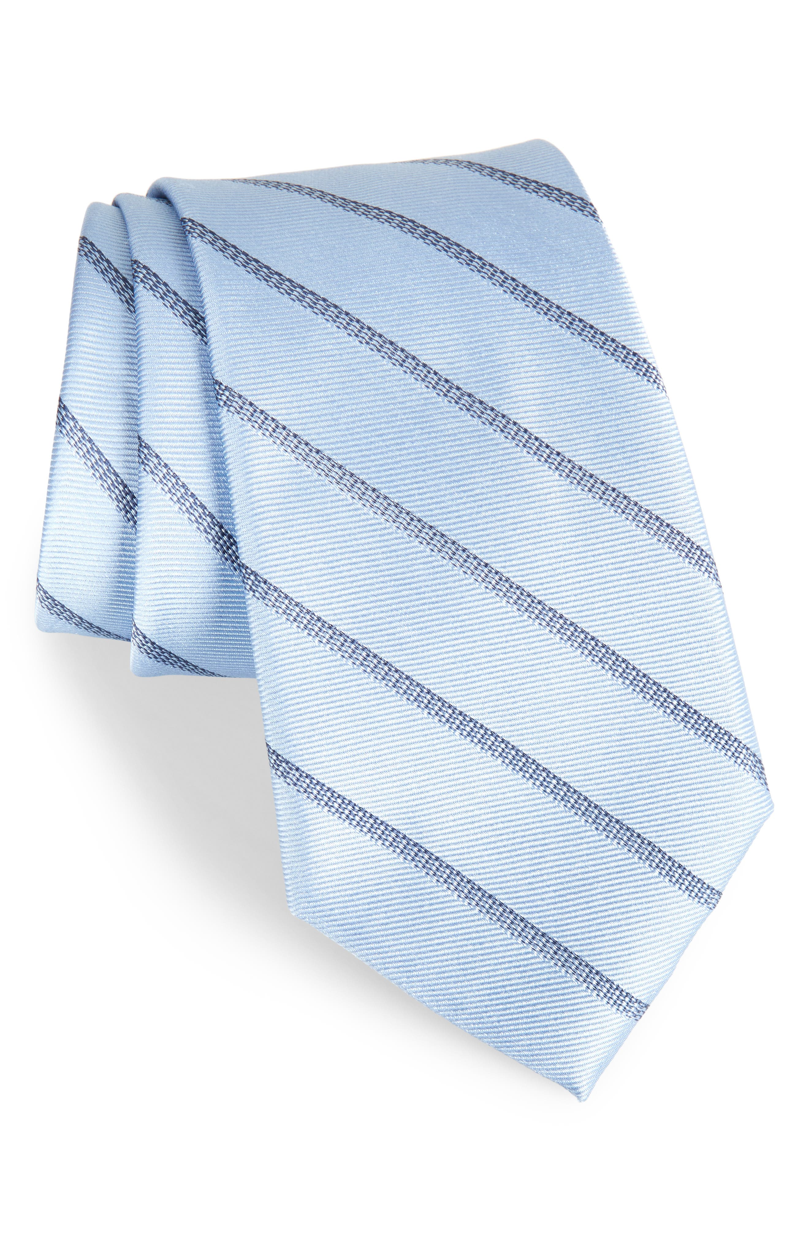 Pixel Stripe Silk Tie,                         Main,                         color, 055