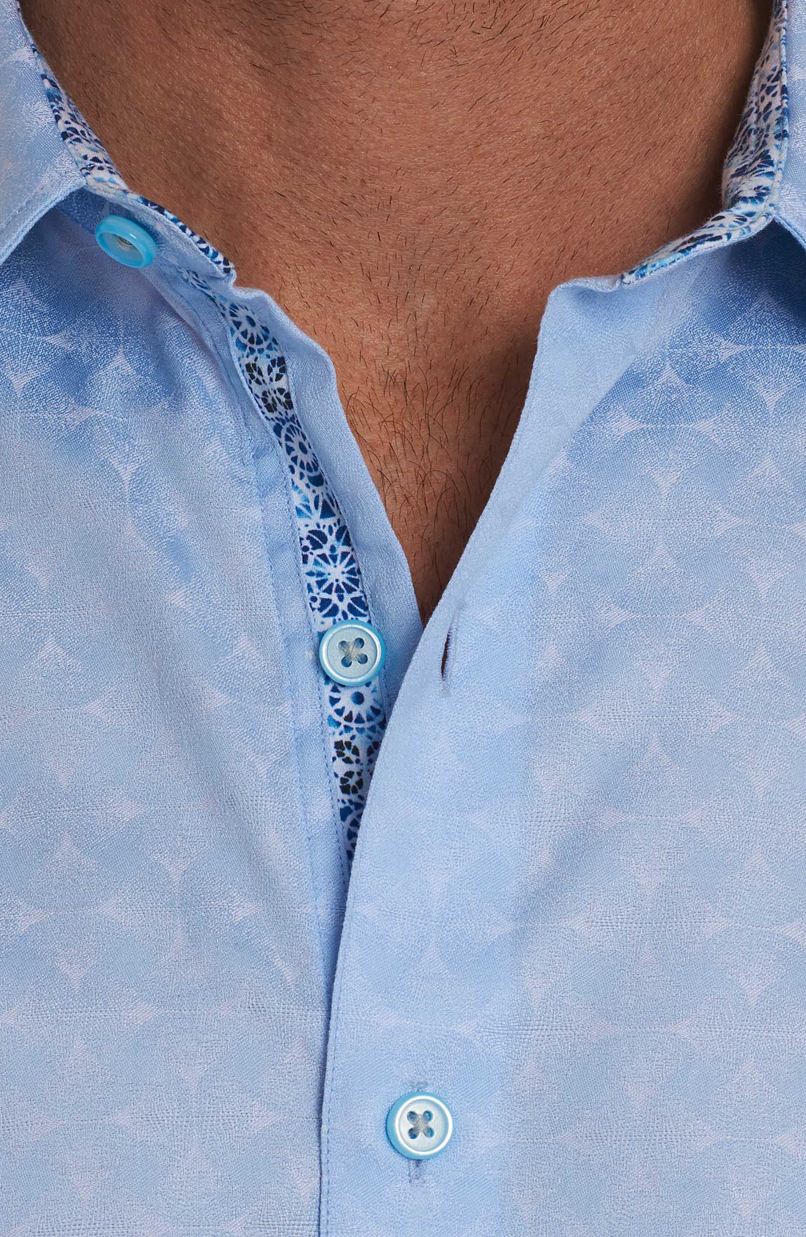 Diamante Classic Fit Sport Shirt,                             Alternate thumbnail 5, color,                             450