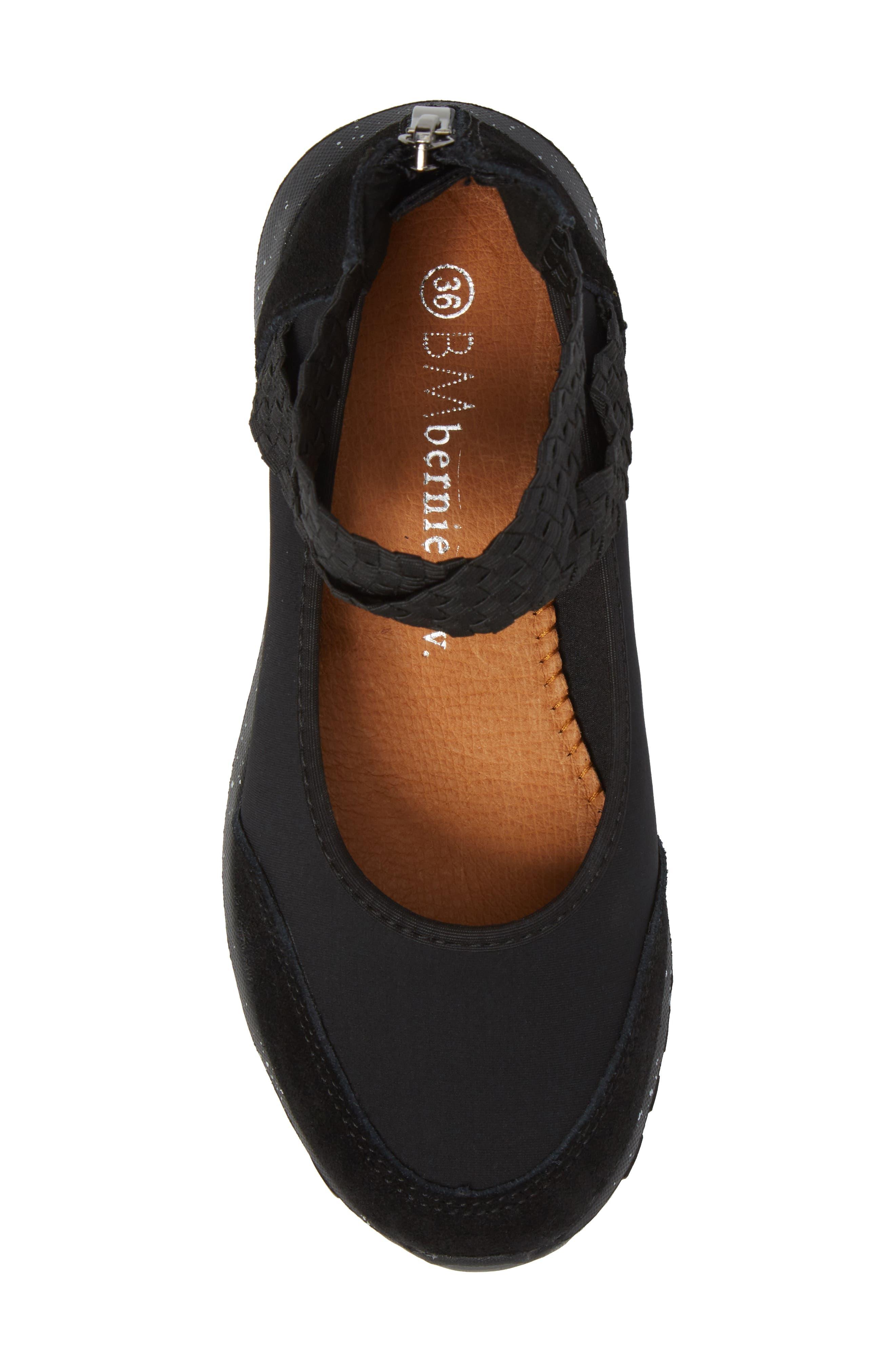 Bernie Mev Runner Flow Sneaker,                             Alternate thumbnail 5, color,                             001
