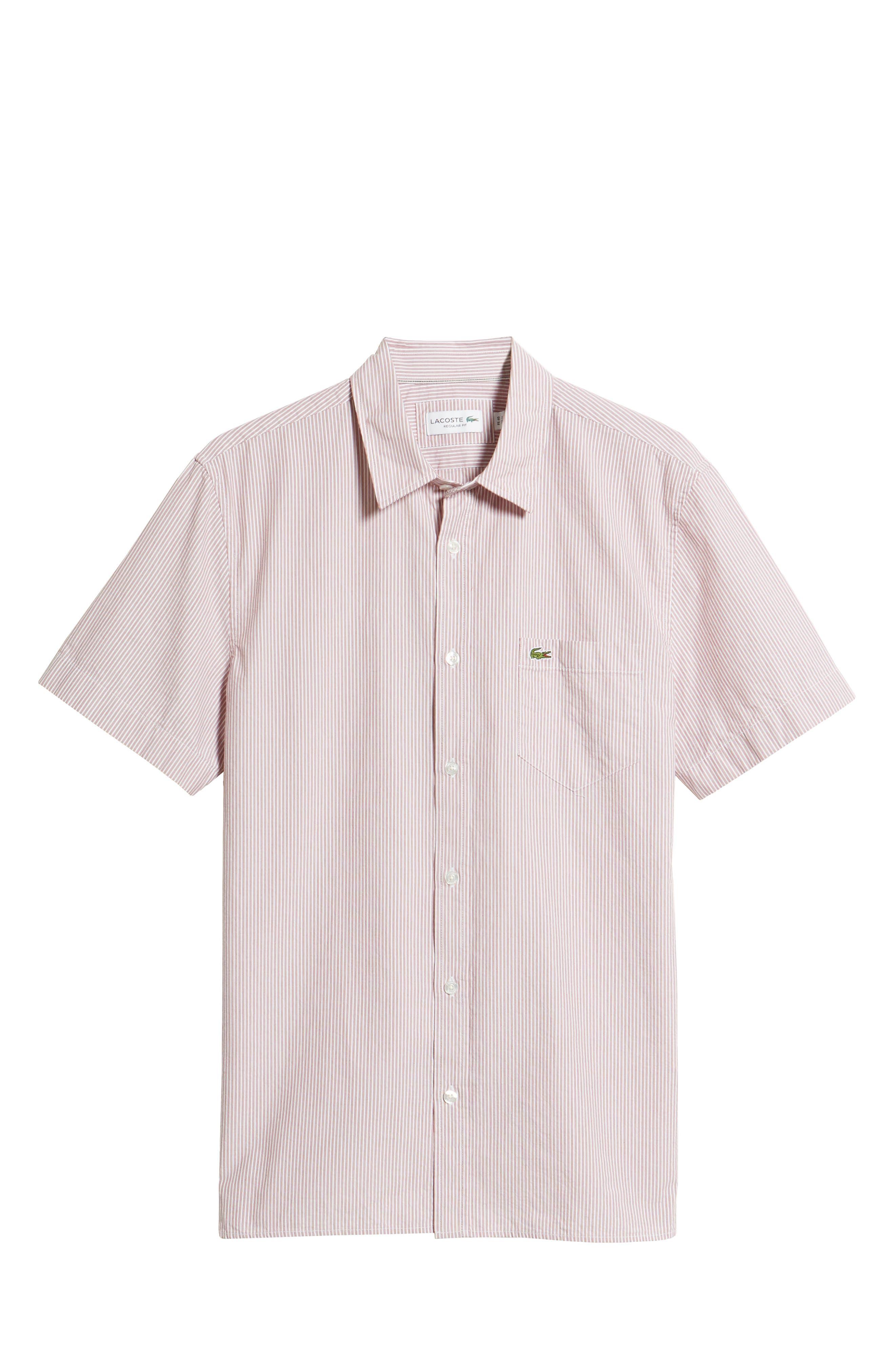 Regular Fit Seersucker Sport Shirt,                             Alternate thumbnail 6, color,                             TOREADOR