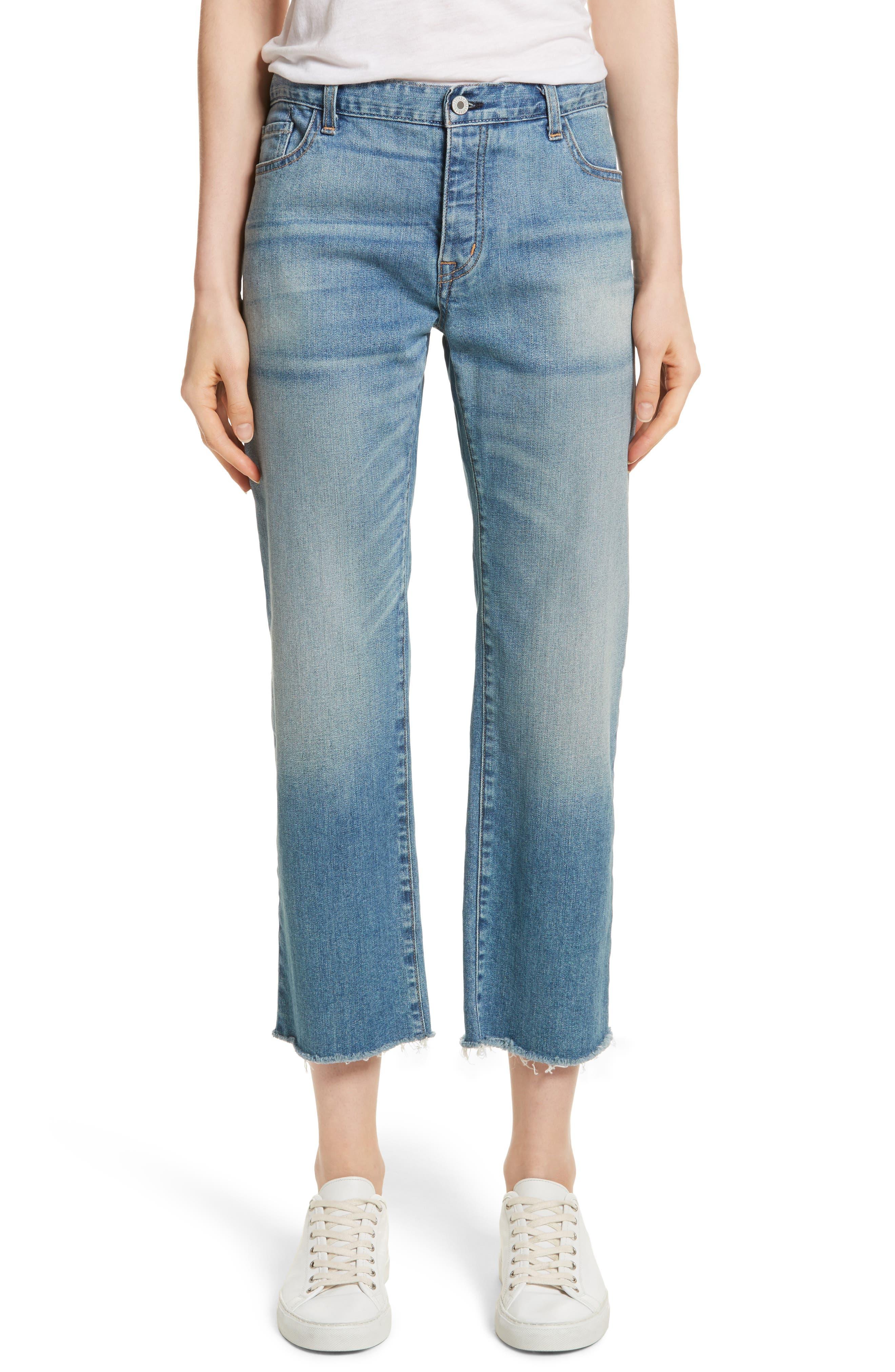 NILI LOTAN,                             Raw Edge Crop Boyfriend Jeans,                             Main thumbnail 1, color,                             VENICE WASH