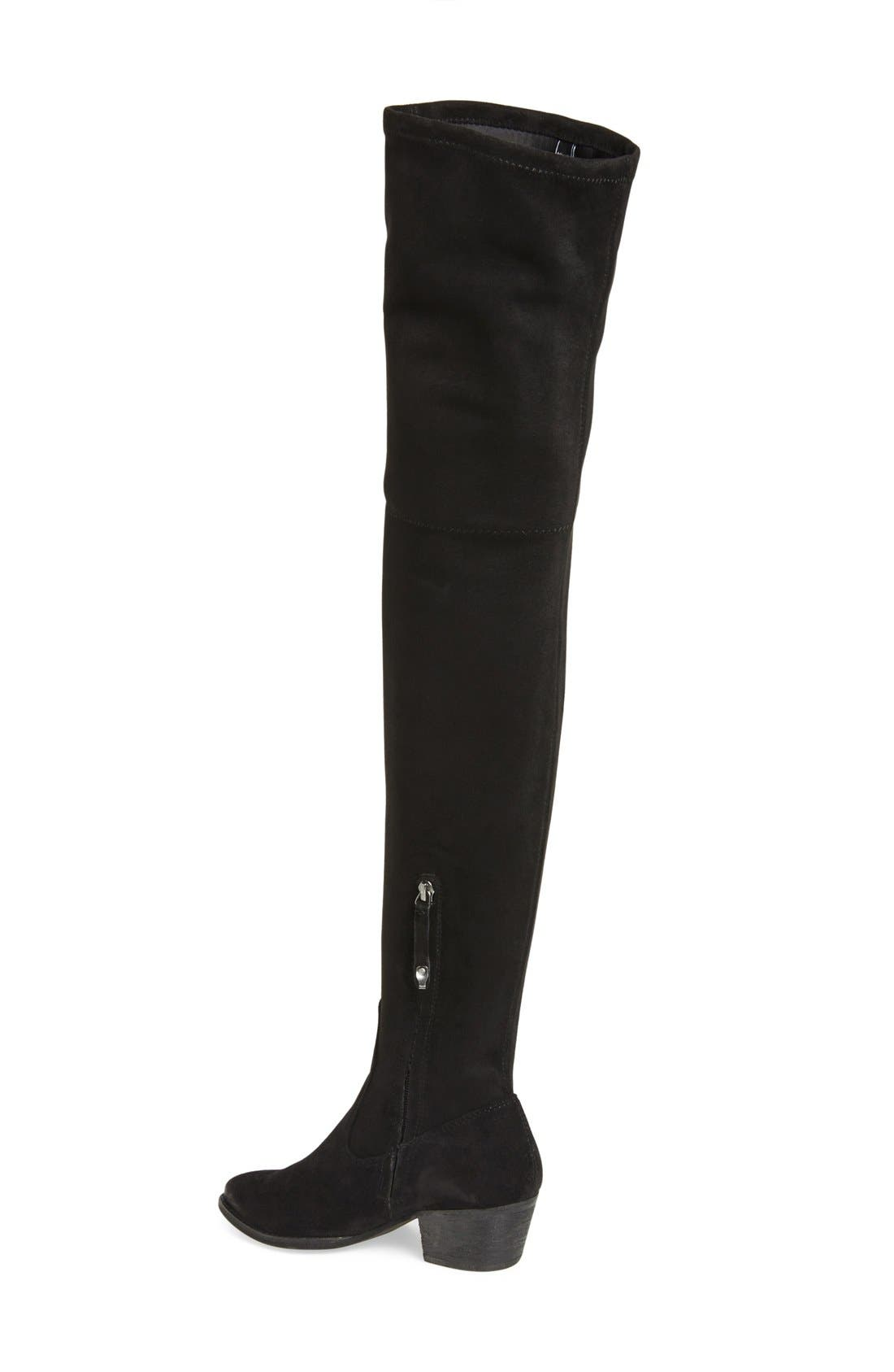 'Sparrow' Thigh High Almond Toe Boot,                             Alternate thumbnail 2, color,                             001