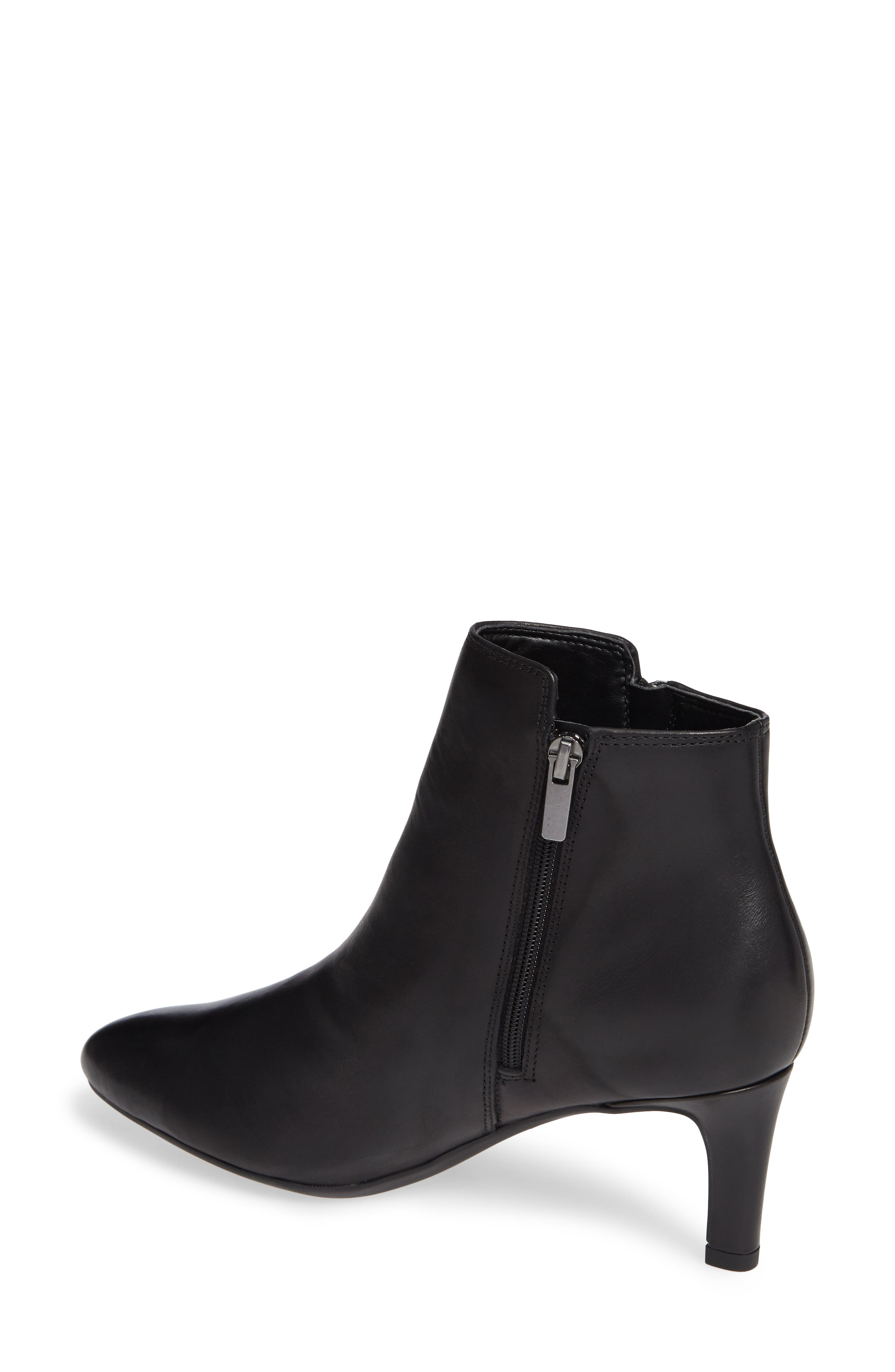 Calla Blossom Bootie,                             Alternate thumbnail 2, color,                             BLACK LEATHER