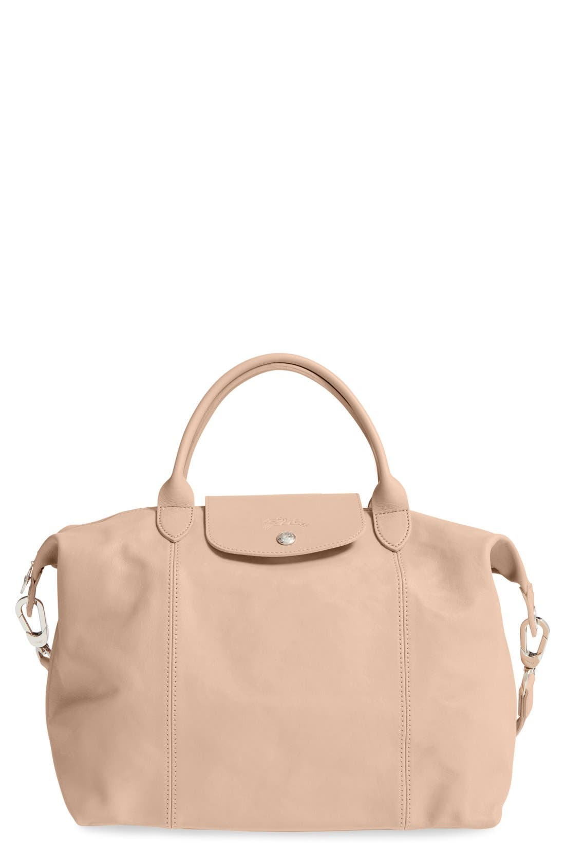 Medium 'Le Pliage Cuir' Leather Top Handle Tote,                             Main thumbnail 6, color,