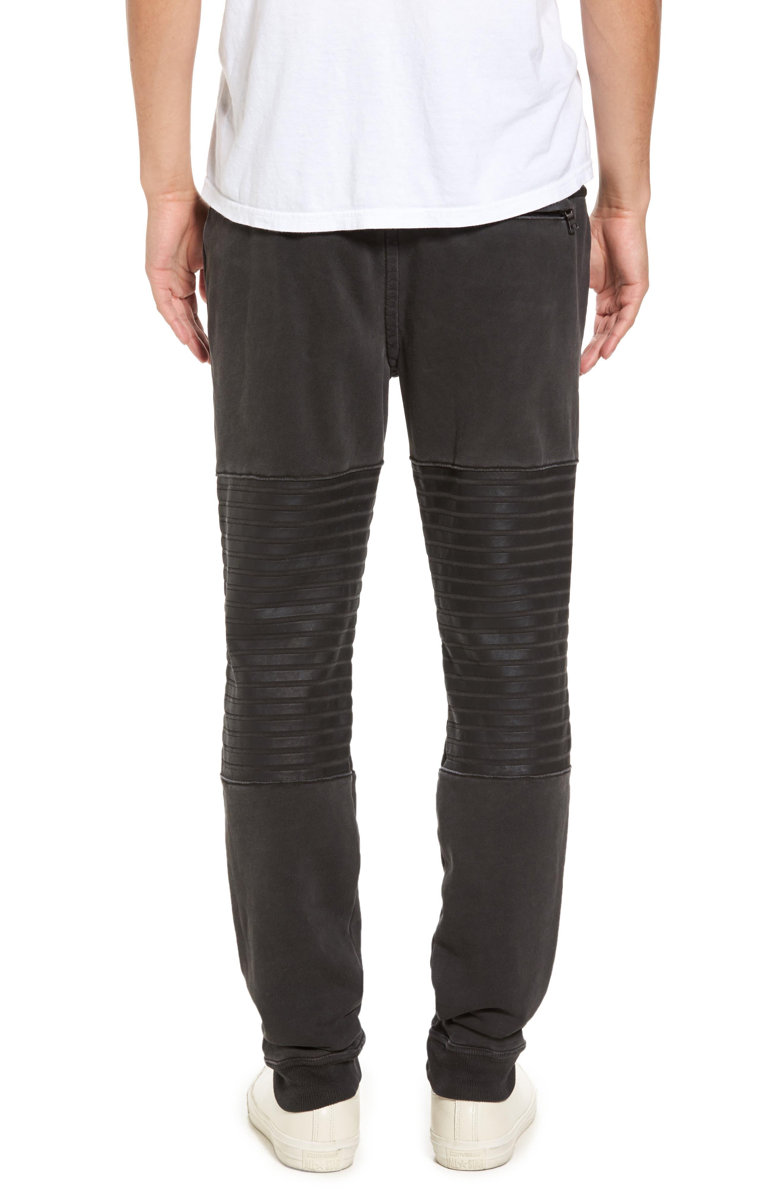 Moto Sweatpants,                             Alternate thumbnail 2, color,                             001