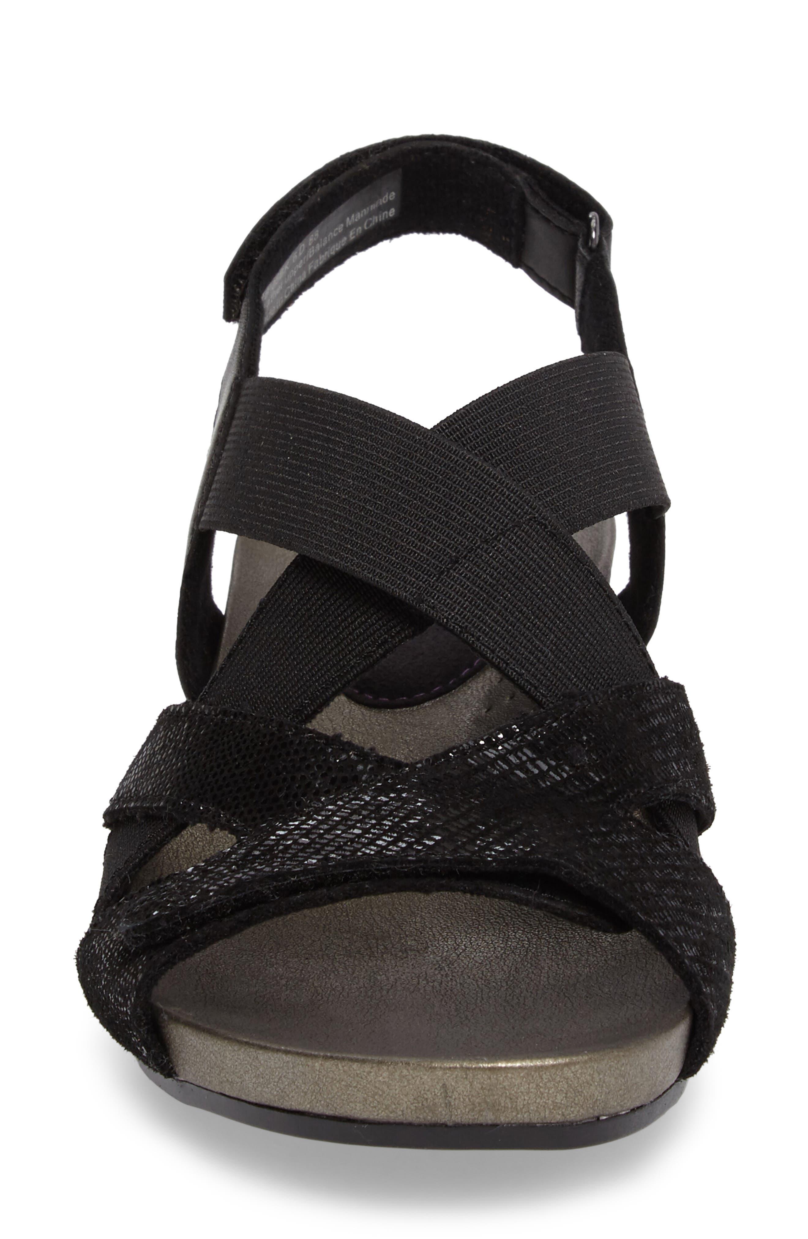 Standon Cross Strap Sandal,                             Alternate thumbnail 4, color,                             001