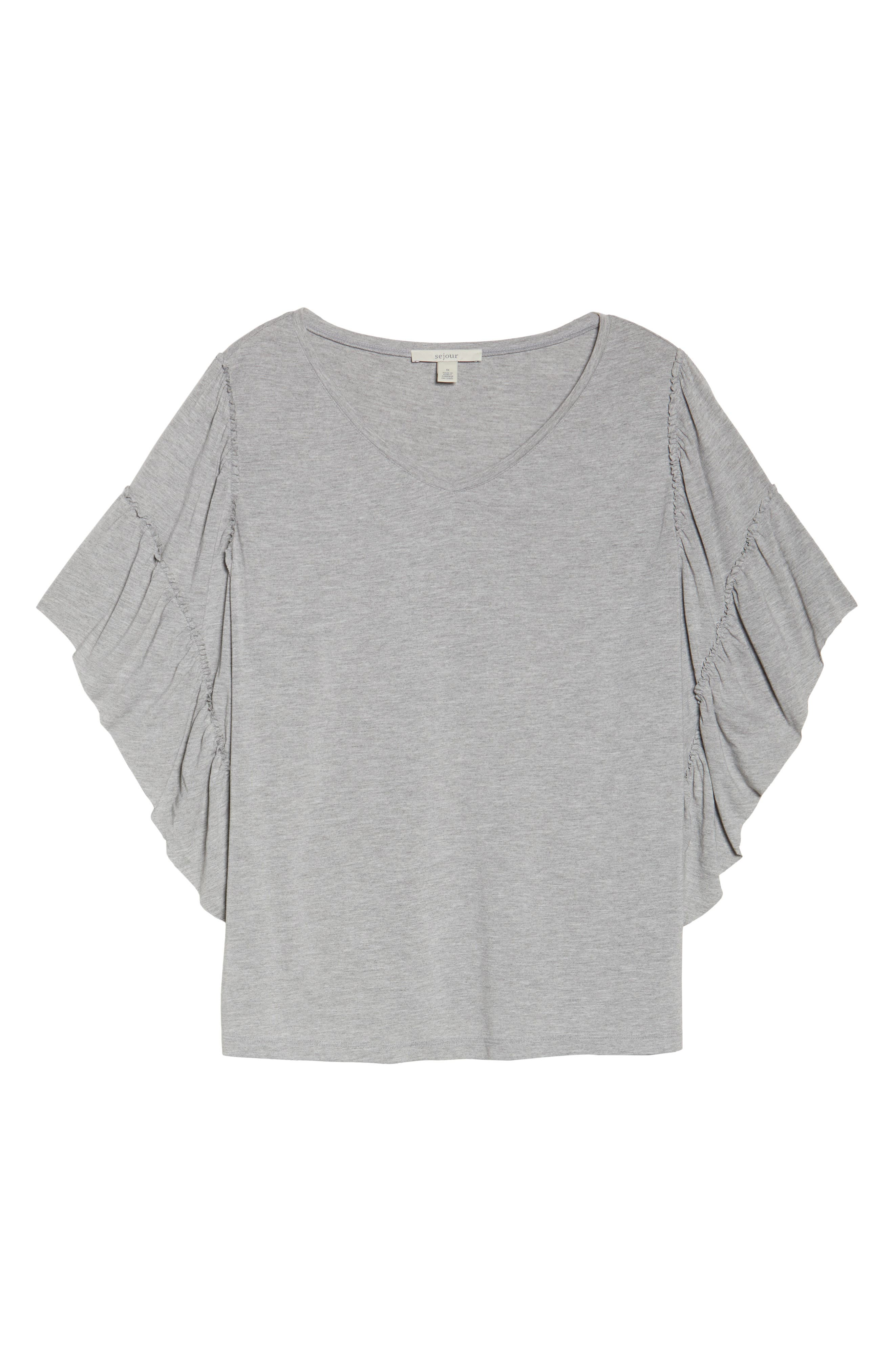 Frill Sleeve Tee,                             Alternate thumbnail 7, color,                             030