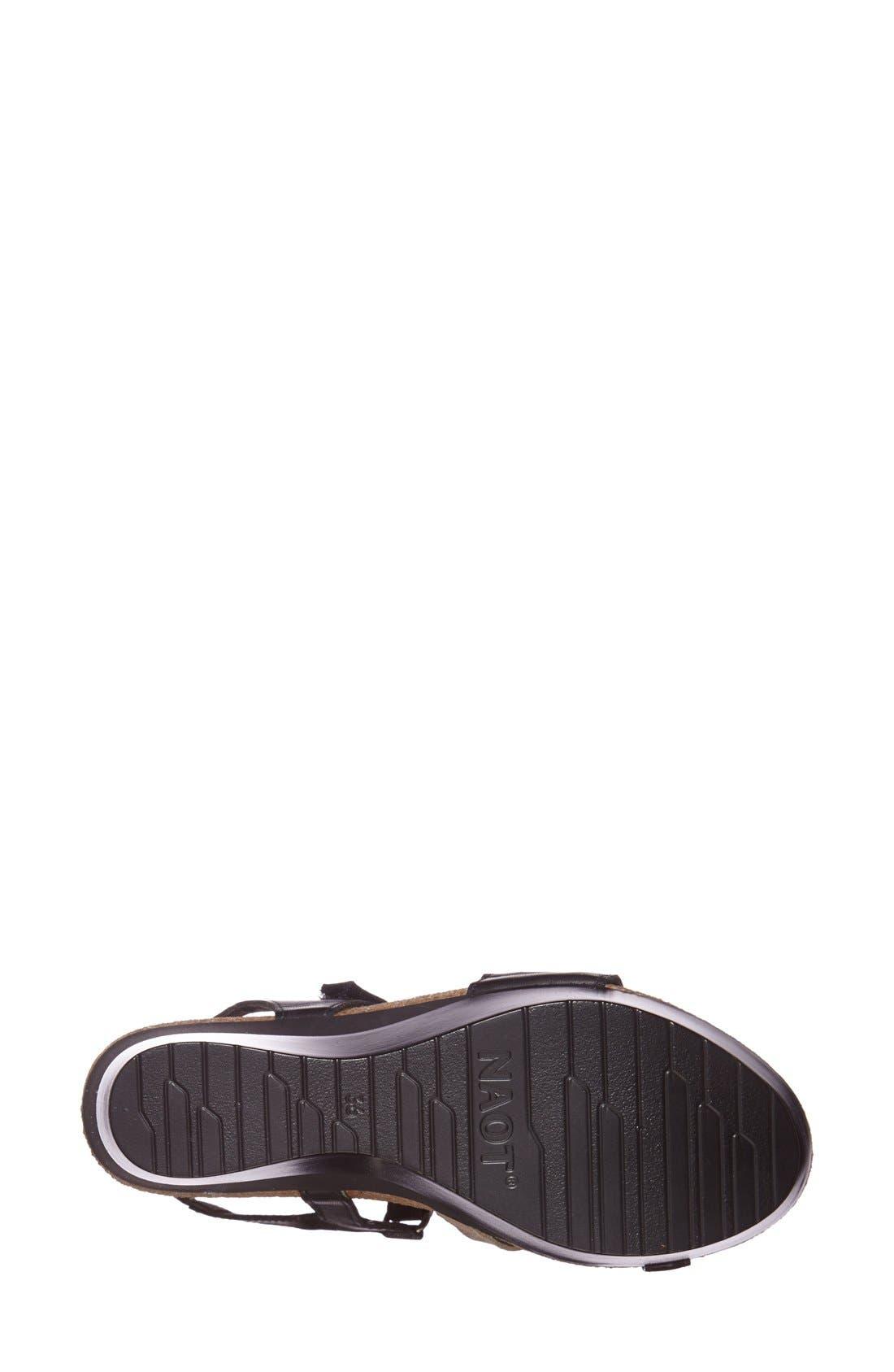 'Canaan' Wedge Sandal,                             Alternate thumbnail 4, color,                             BLACK/ BEIGE