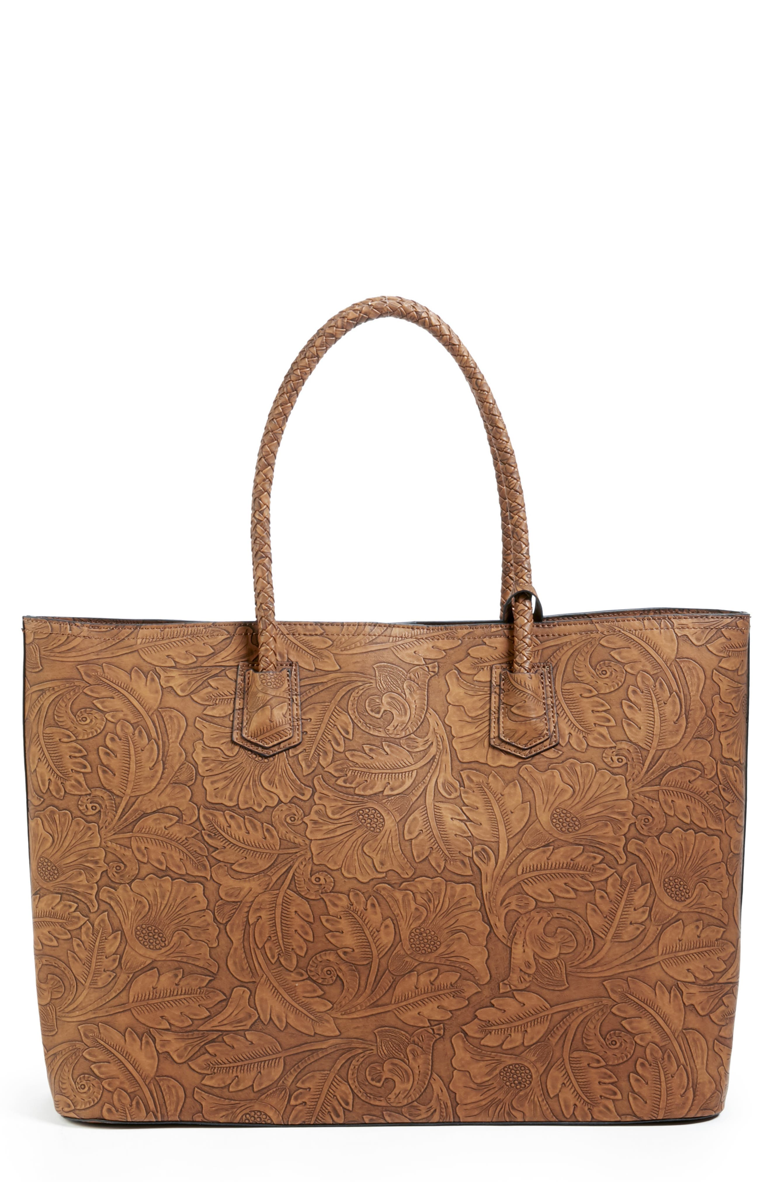 Hawna Faux Leather Tote,                         Main,                         color, 200