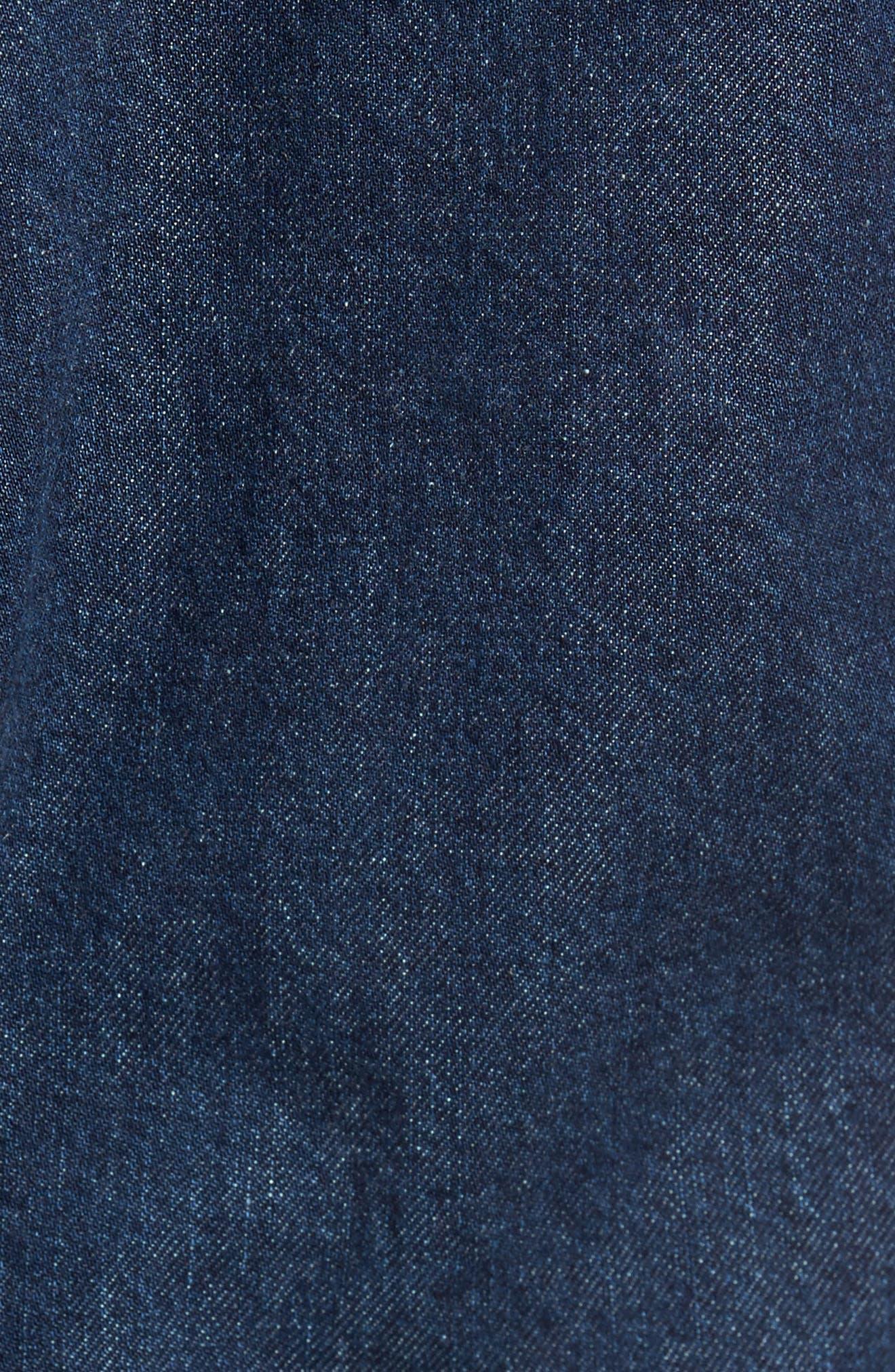 Regular Fit Lined Denim Jacket,                             Alternate thumbnail 6, color,