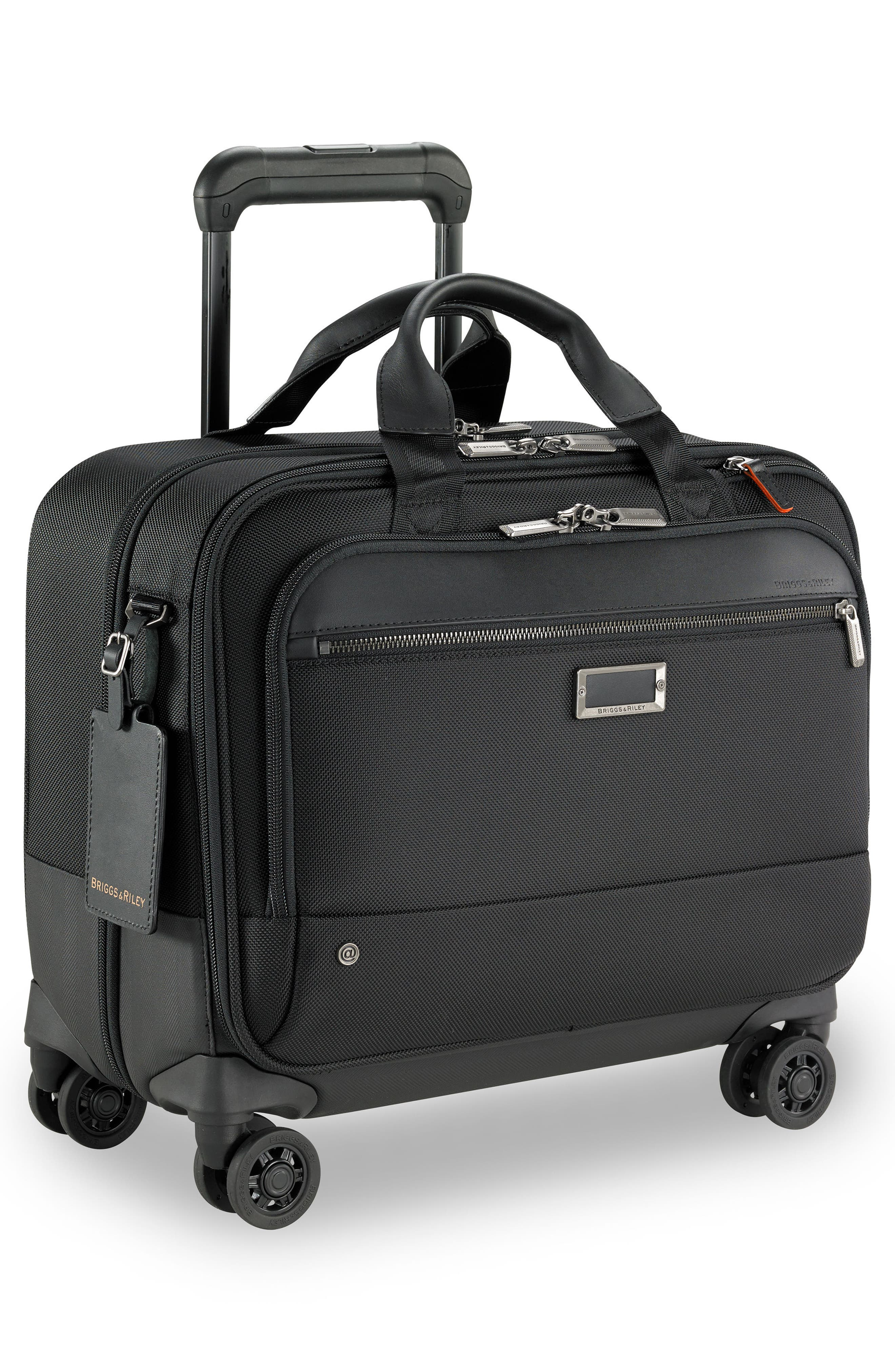 @work Medium Wheeled Briefcase,                             Alternate thumbnail 3, color,                             BLACK