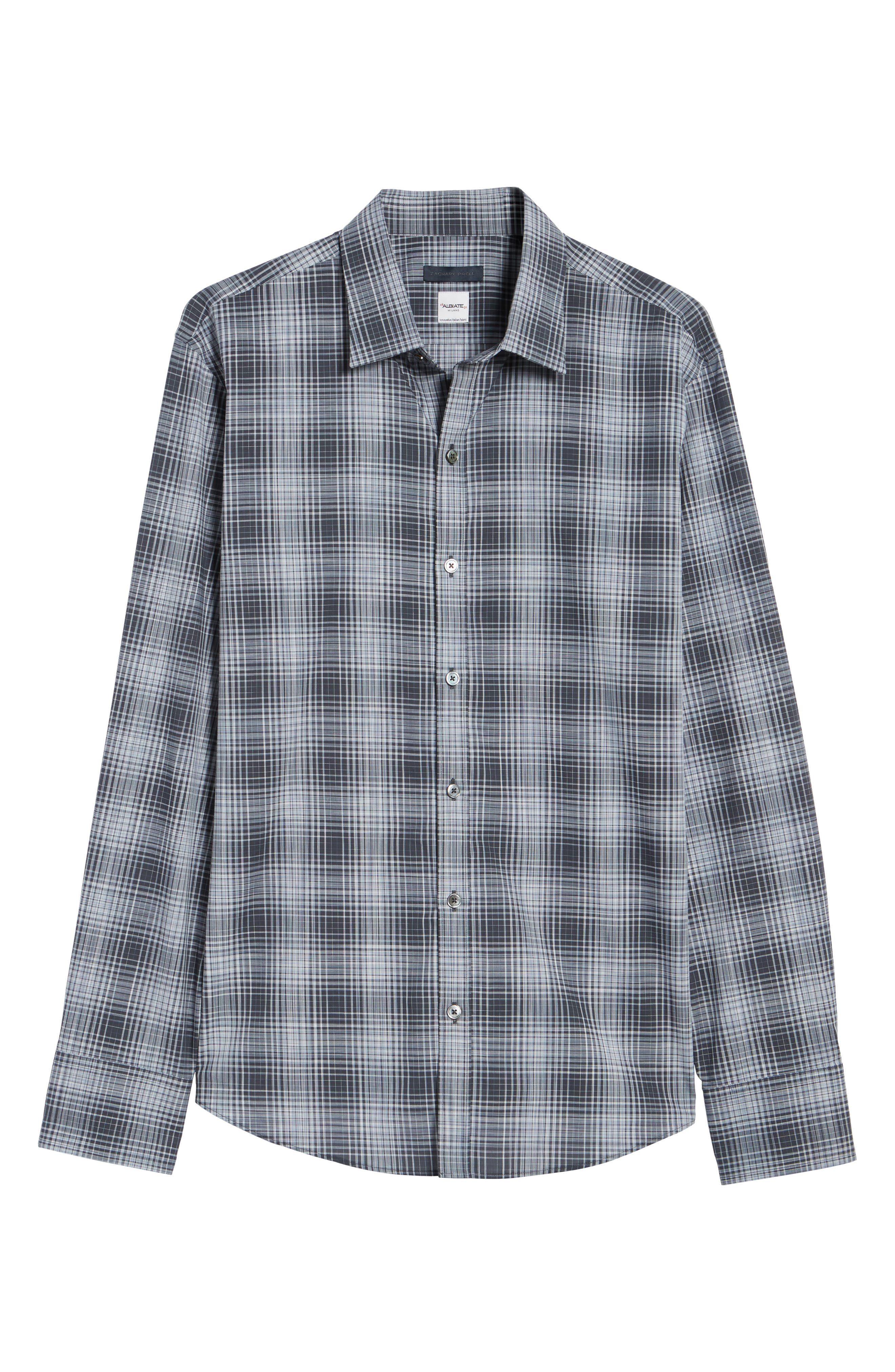 Zander Check Sport Shirt,                             Alternate thumbnail 6, color,                             021