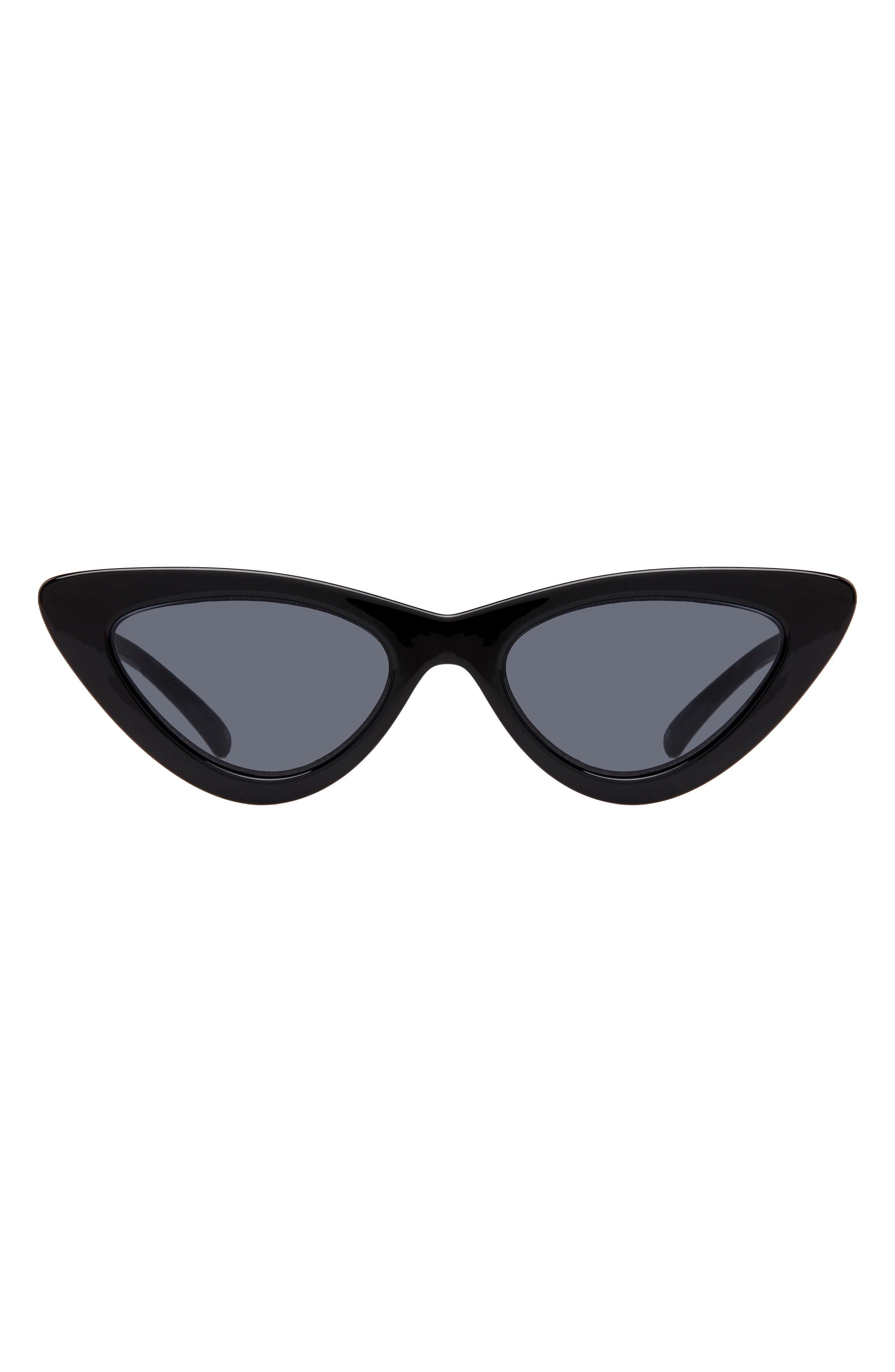 Lolita 49mm Cat Eye Sunglasses,                             Alternate thumbnail 4, color,                             BLACK