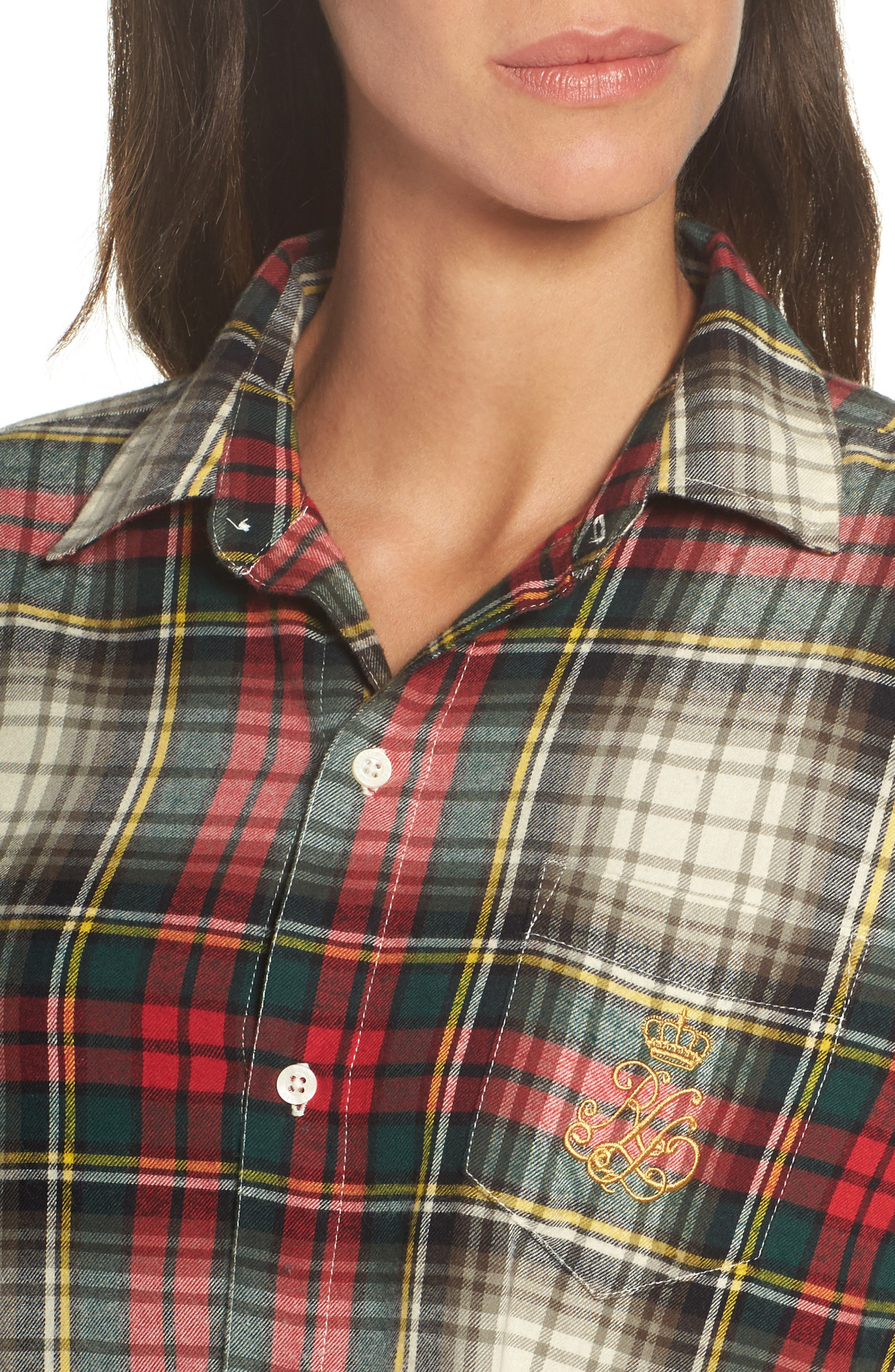 Flannel Sleep Shirt,                             Alternate thumbnail 15, color,