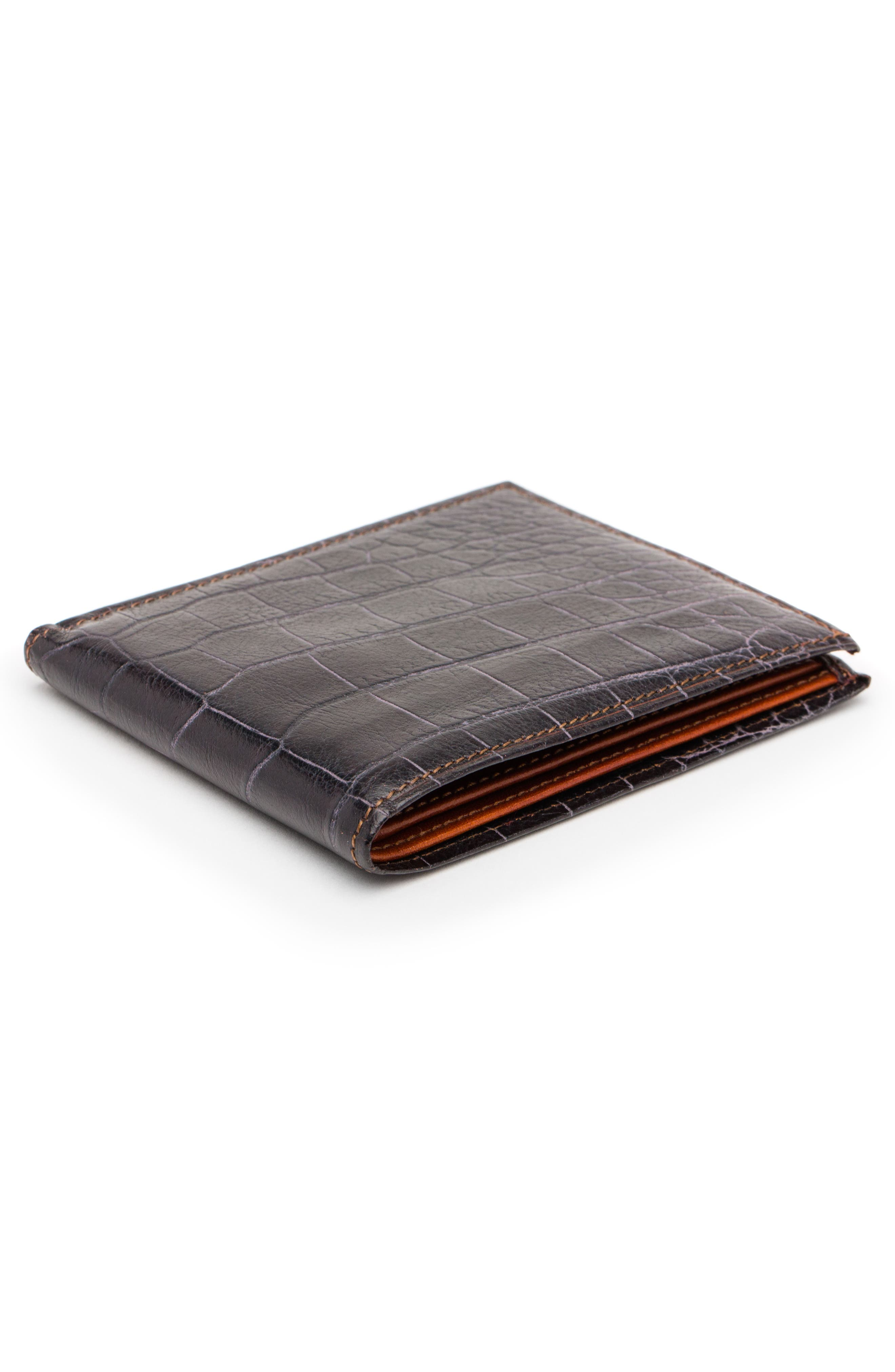 Embossed Bifold Wallet,                             Alternate thumbnail 3, color,