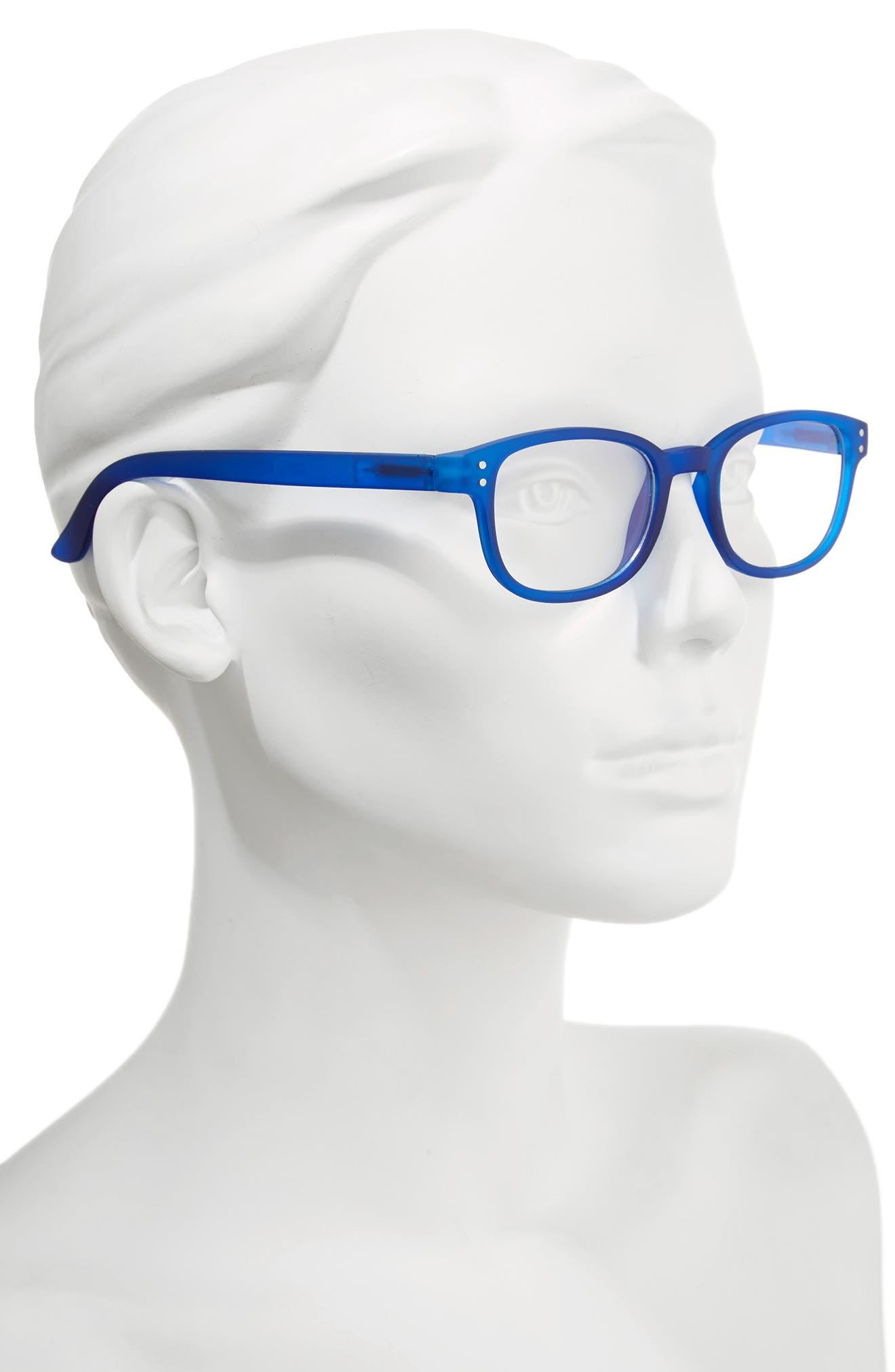 ColorSpex<sup>®</sup> 50mm Blue Light Blocking Reading Glasses,                             Alternate thumbnail 2, color,                             BLUE