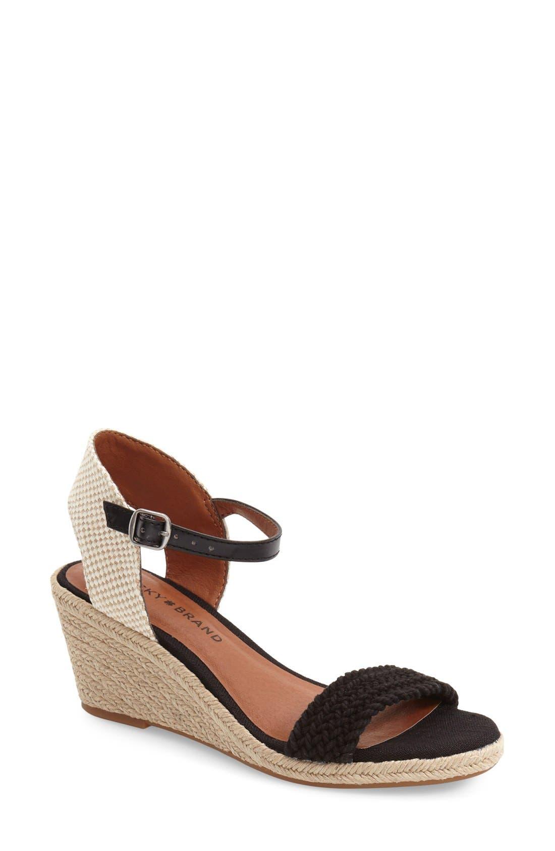 'Katereena' Wedge Sandal,                         Main,                         color, 001