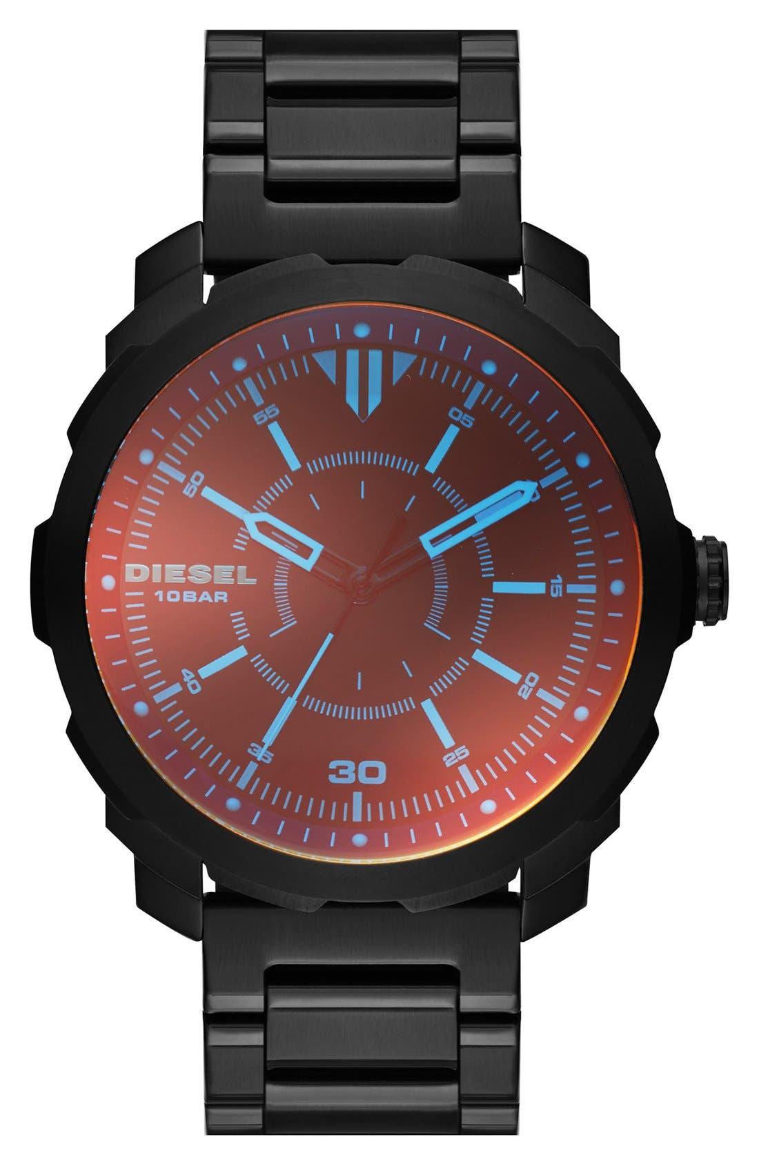 DIESEL<SUP>®</SUP> 'Mac 3' Bracelet Watch, 46mm, Main, color, 001