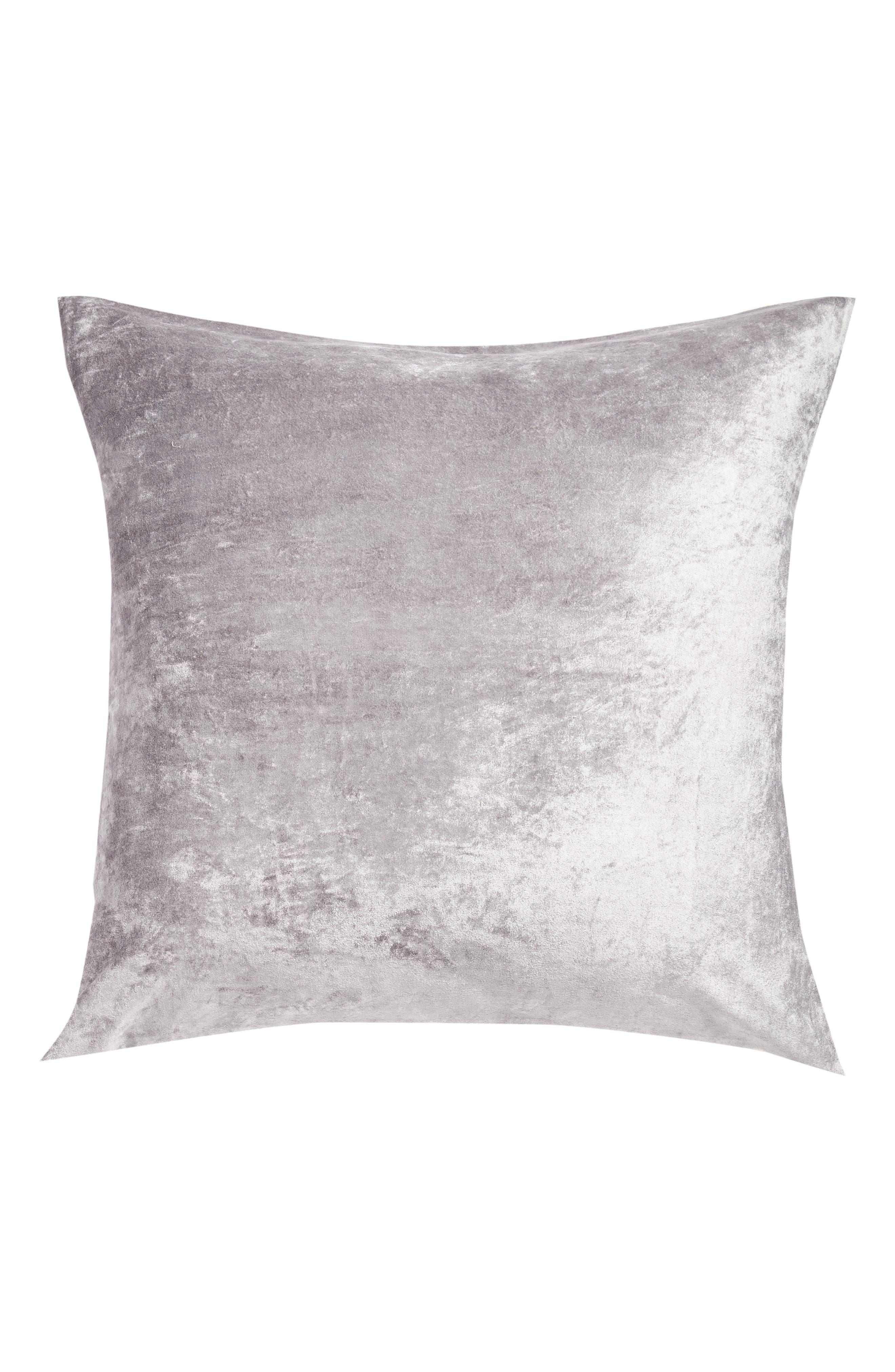 Shimmer Velvet Euro Sham, Main, color, GREY FROST