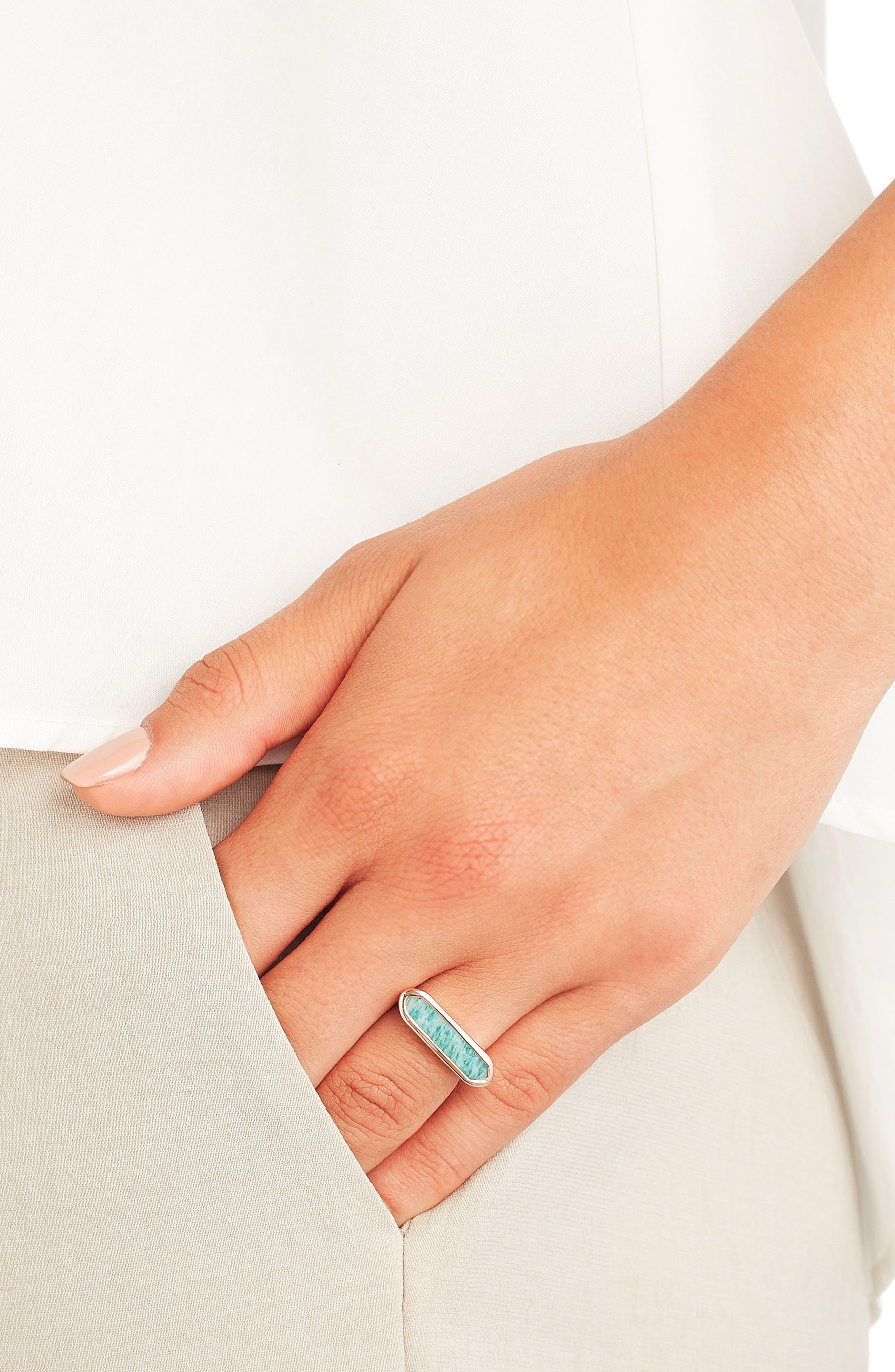 MONICA VINADER,                             Baja Grey Agate Ring,                             Alternate thumbnail 2, color,                             ROSE GOLD