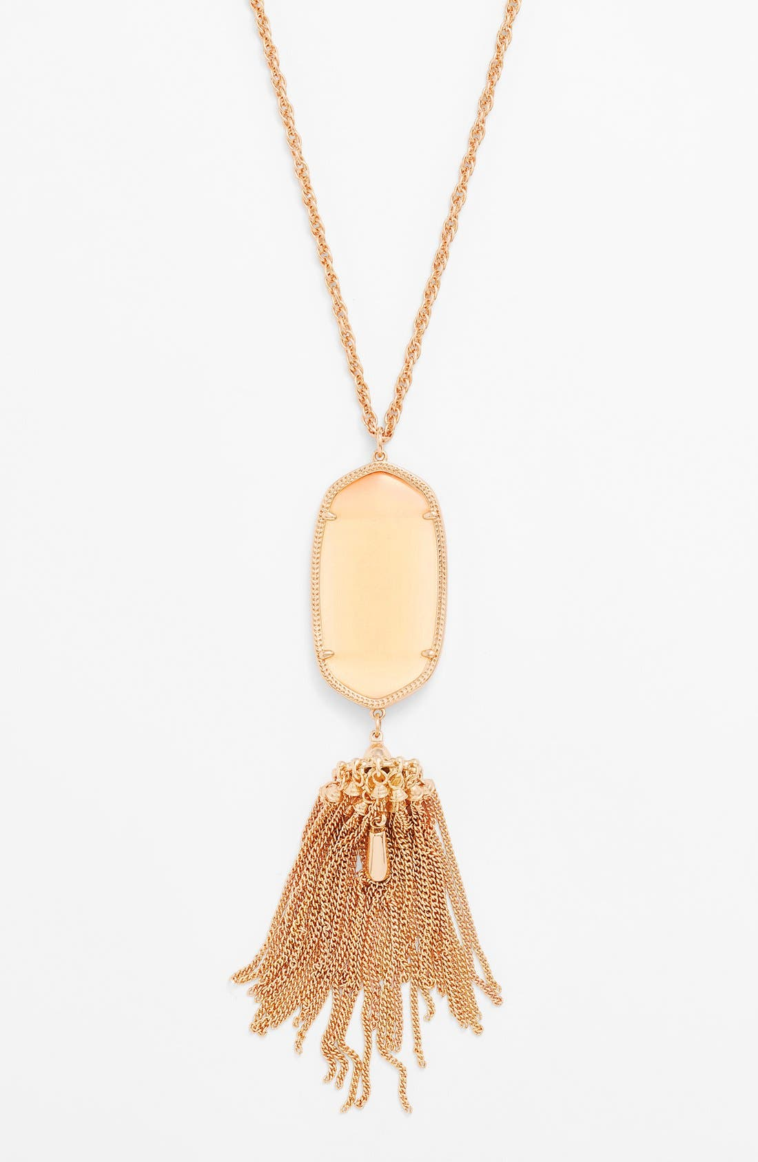 Rayne Stone Tassel Pendant Necklace,                             Alternate thumbnail 144, color,