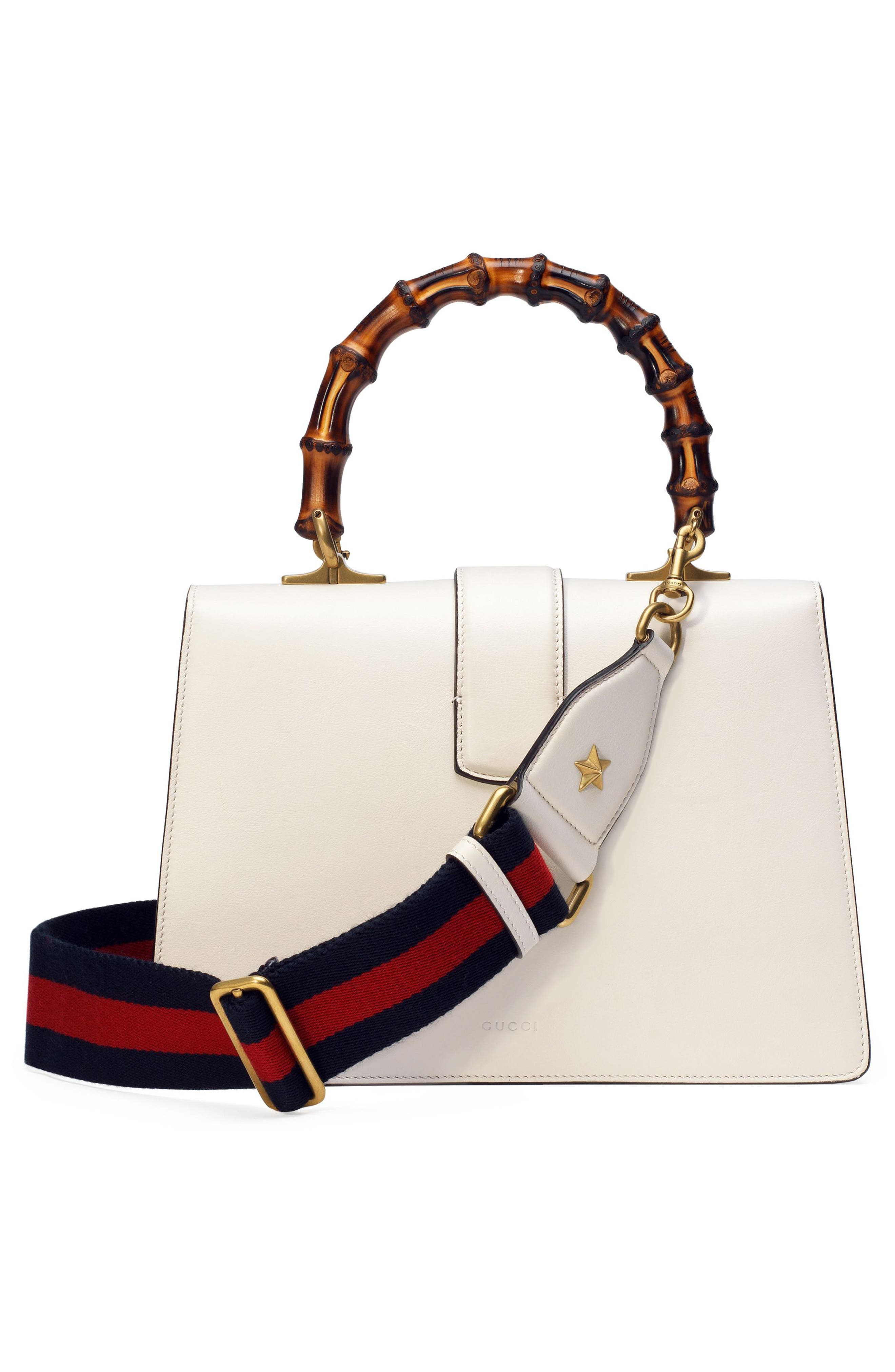 Small Dionysus Top Handle Leather Shoulder Bag,                             Alternate thumbnail 3, color,                             MYSTIC WHITE/ BLUE/ RED