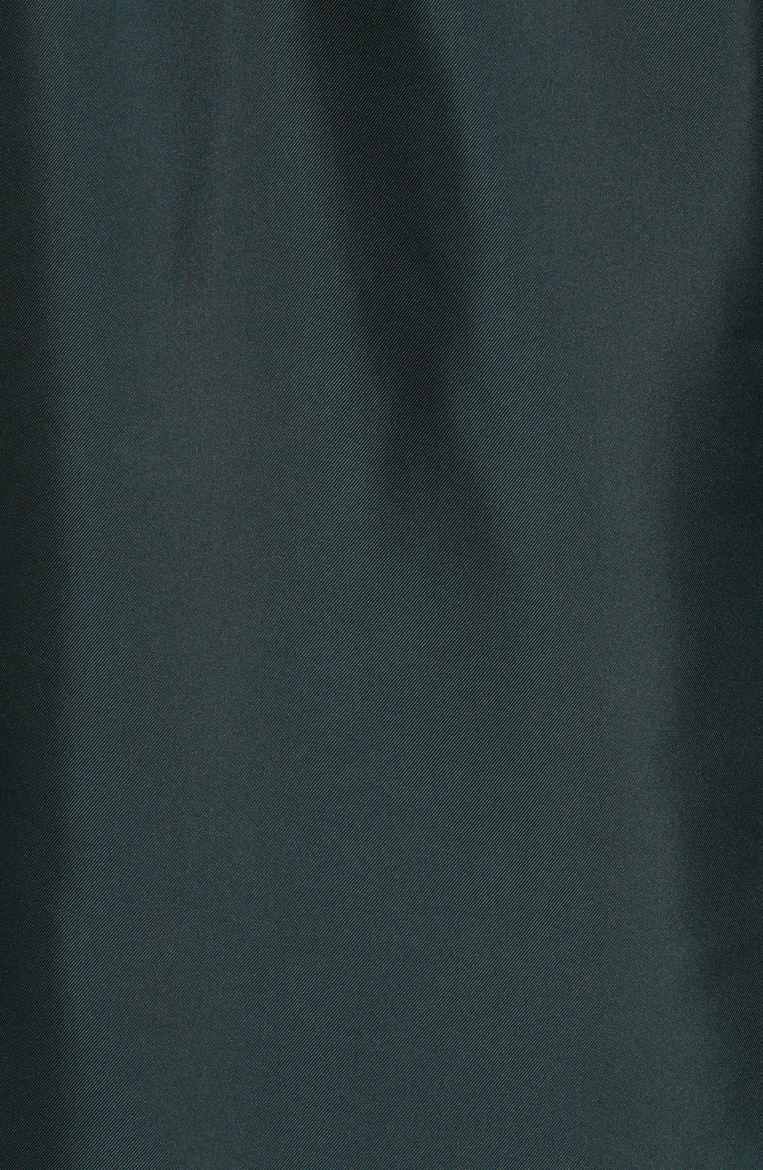 Marther Tie Neck Silk Blouse,                             Alternate thumbnail 5, color,                             DARK GREEN