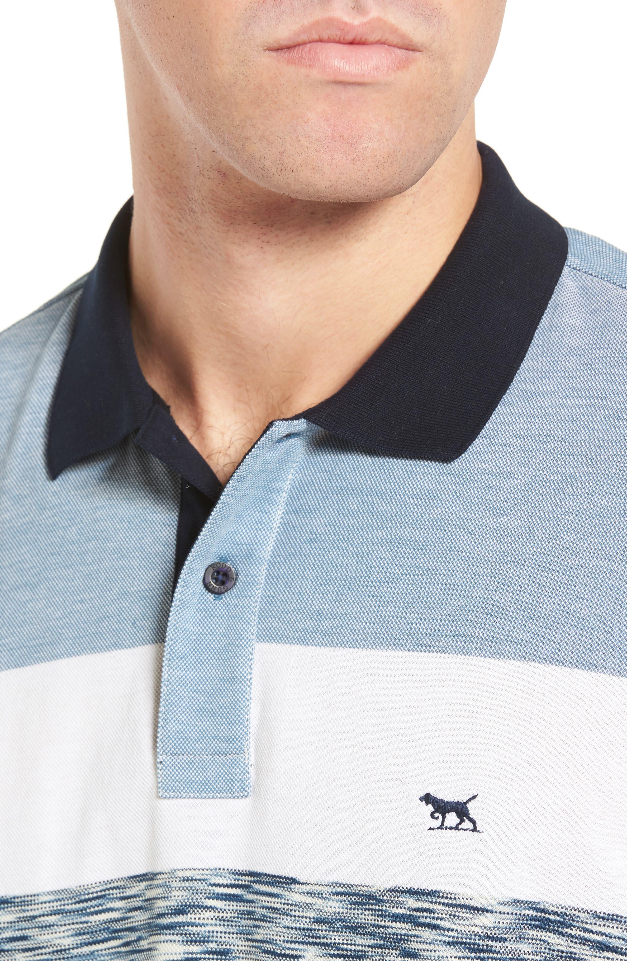 Castlepoint Sport Fit Stripe Polo,                             Alternate thumbnail 4, color,                             433