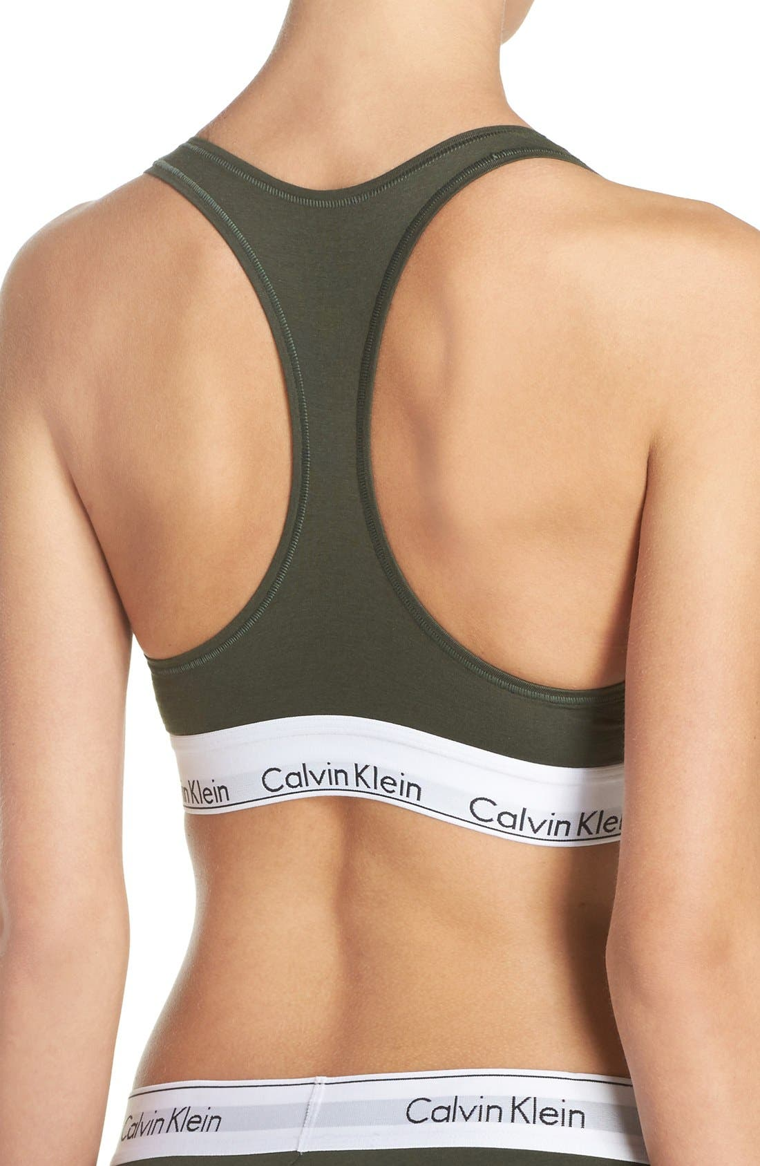 Modern Cotton Collection Cotton Blend Racerback Bralette,                             Alternate thumbnail 66, color,